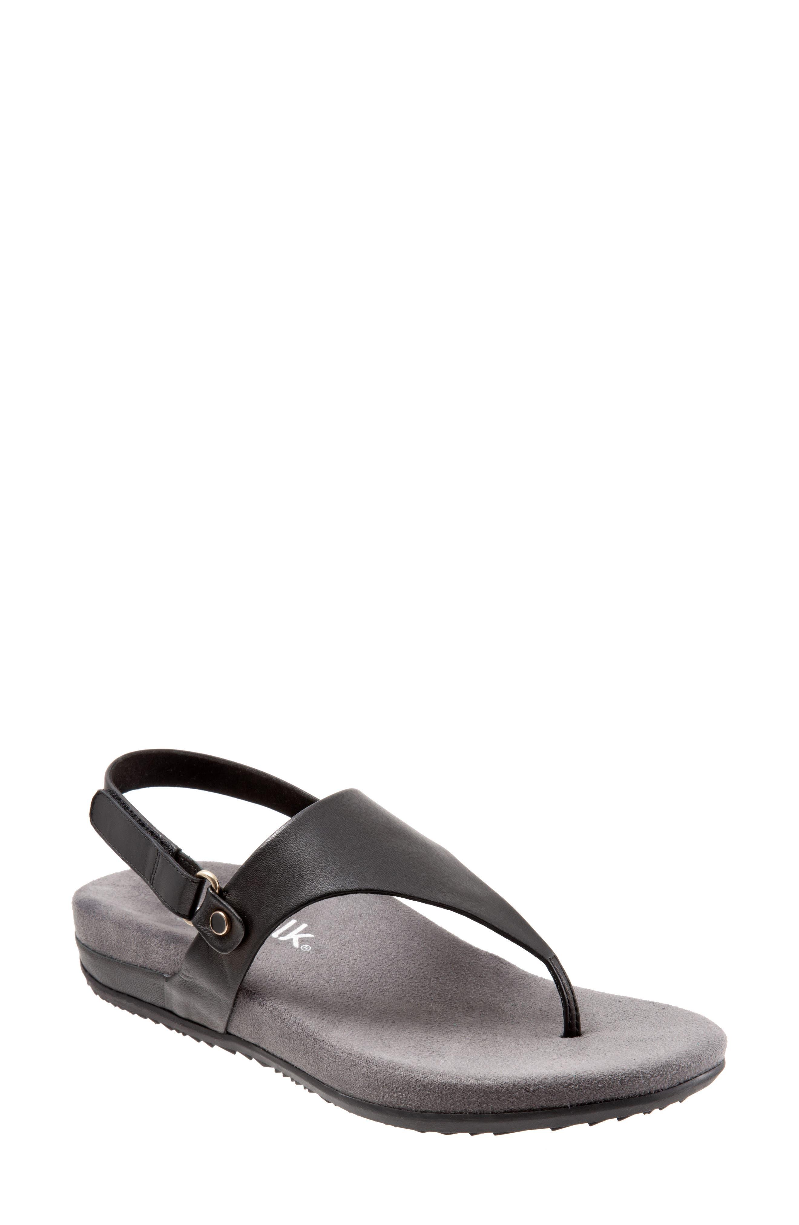 Softwalk Bolinas V-Strap Sandal, Black