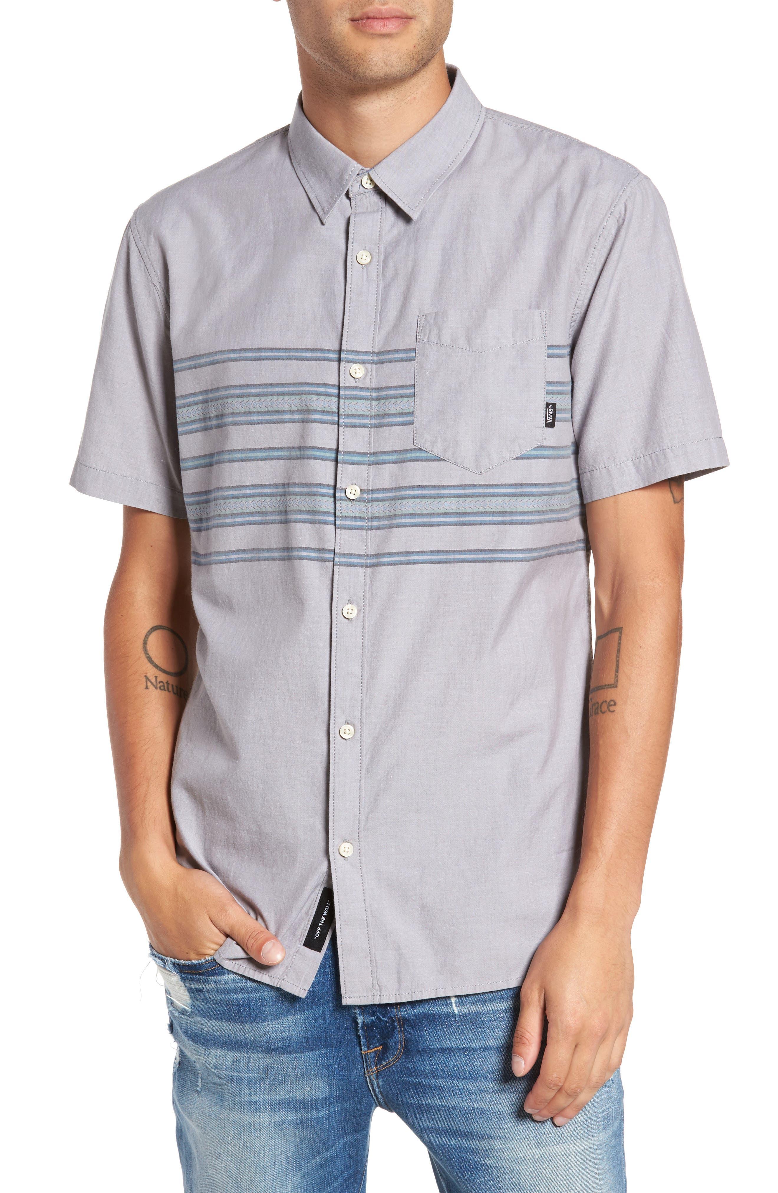 Benmore Striped Woven Shirt,                         Main,                         color, 021