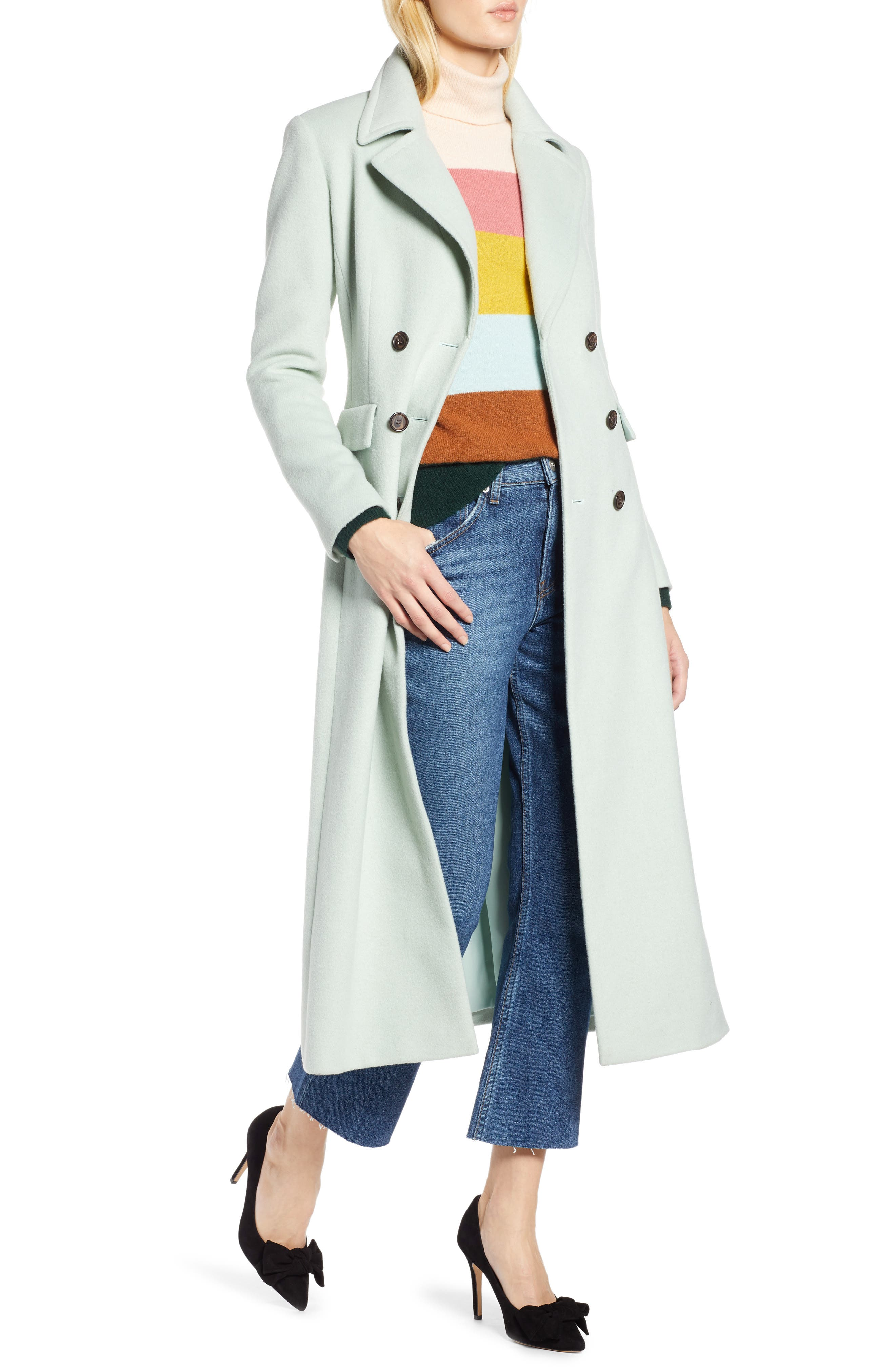 x Atlantic-Pacific Double Breasted Long Coat,                             Main thumbnail 1, color,                             330