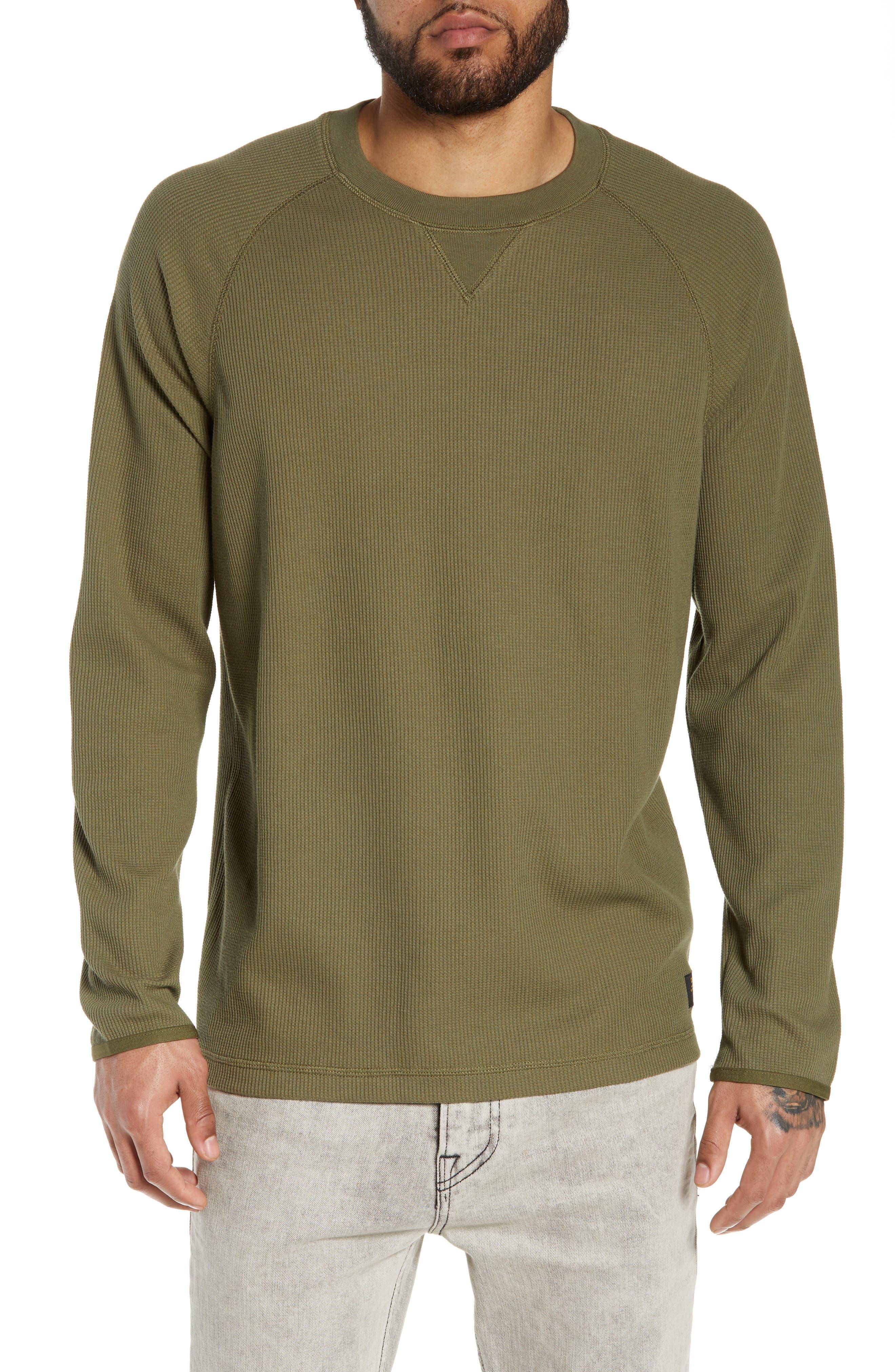 Leeward Thermal Long Sleeve T-Shirt, Main, color, ROVER GREEN