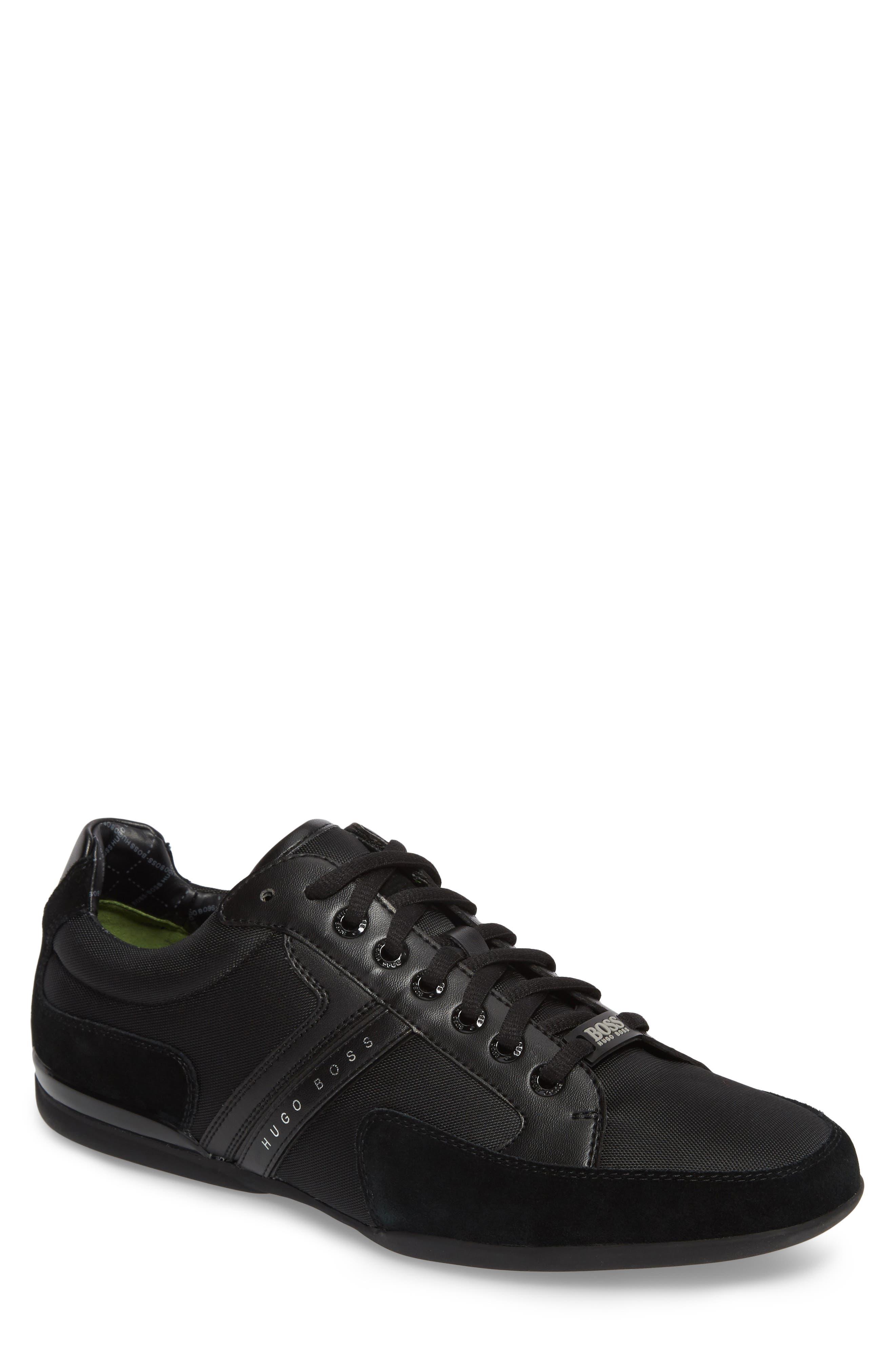 BOSS,                             Hugo Boss Sneaker,                             Main thumbnail 1, color,                             001
