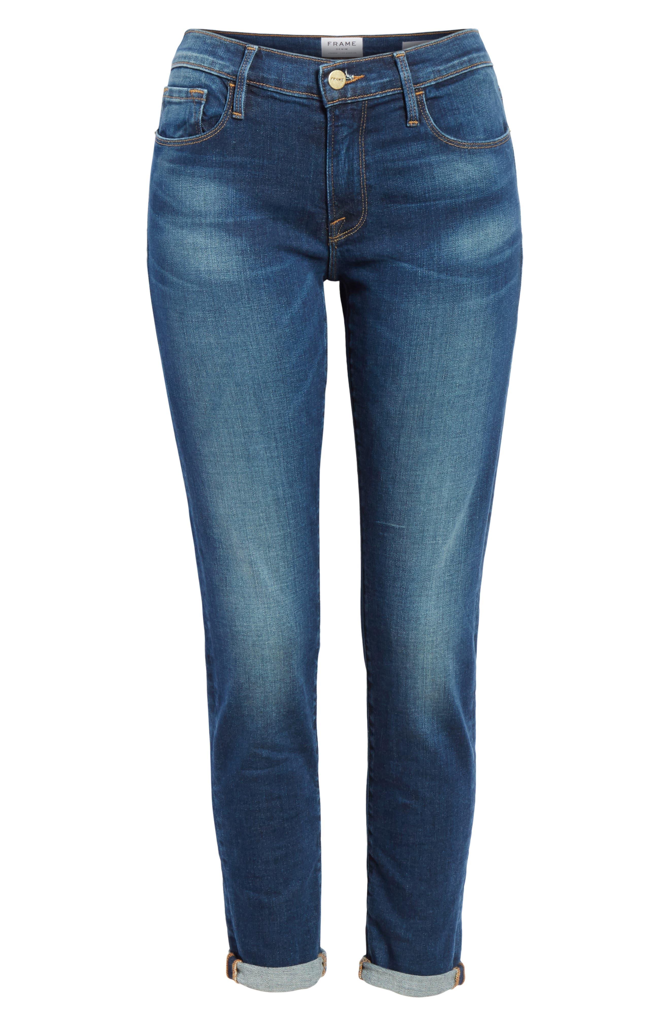 Le Garcon Slim Boyfriend Jeans,                             Alternate thumbnail 7, color,                             WESTFIELD