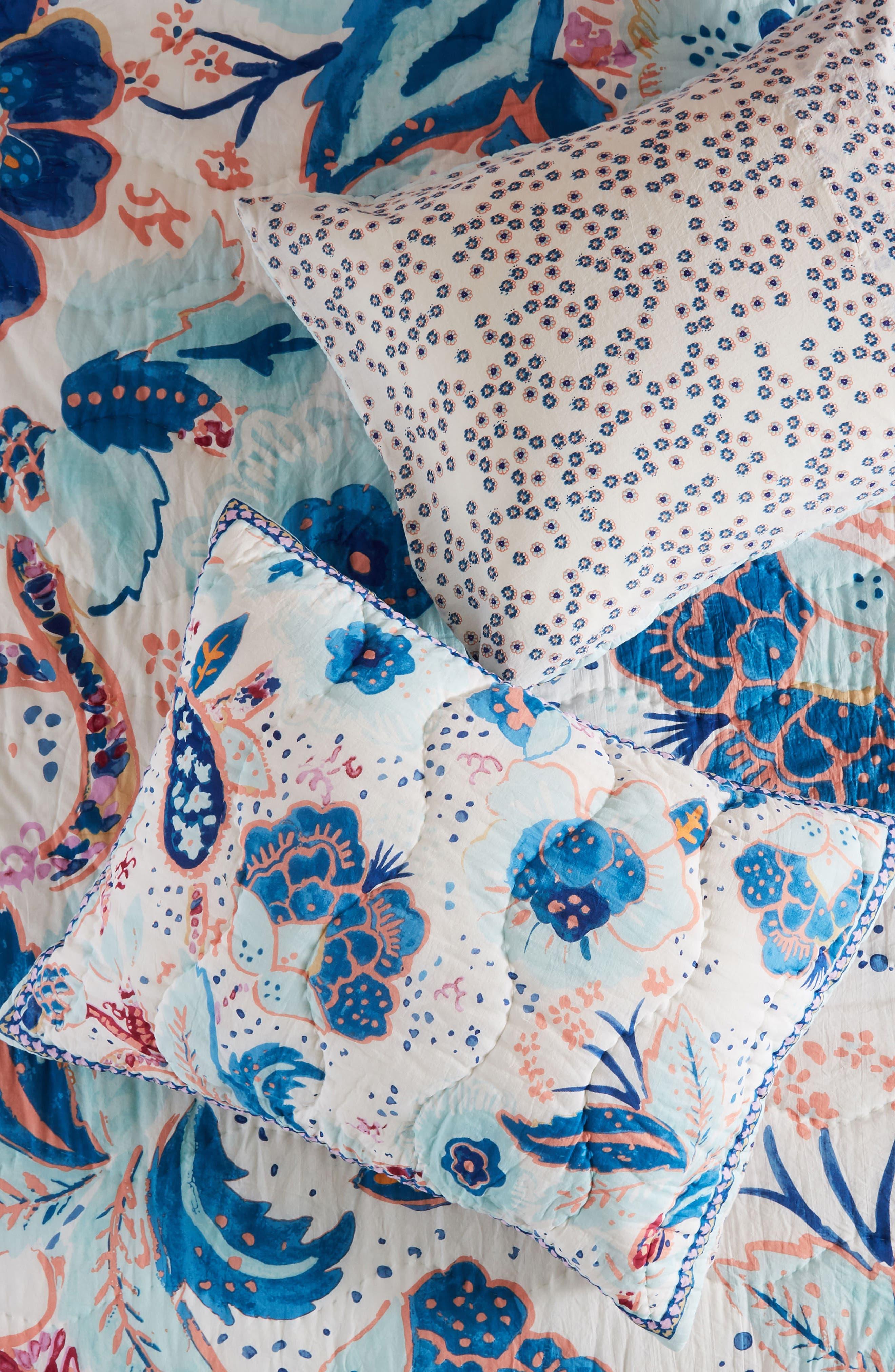 Santorini Pillow Shams,                         Main,                         color, BLUE COMBO