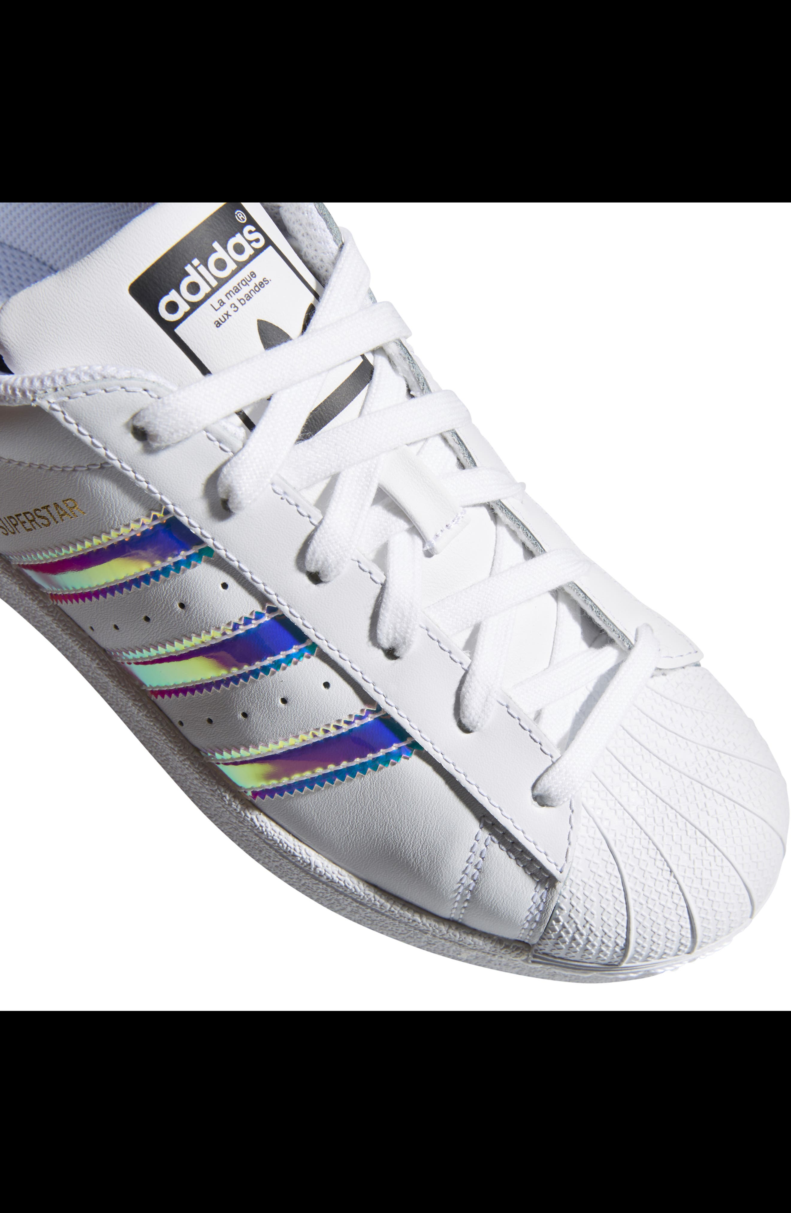 Superstar - Iridescent Sneaker,                             Alternate thumbnail 14, color,                             SILVER METALLIC/ WHITE