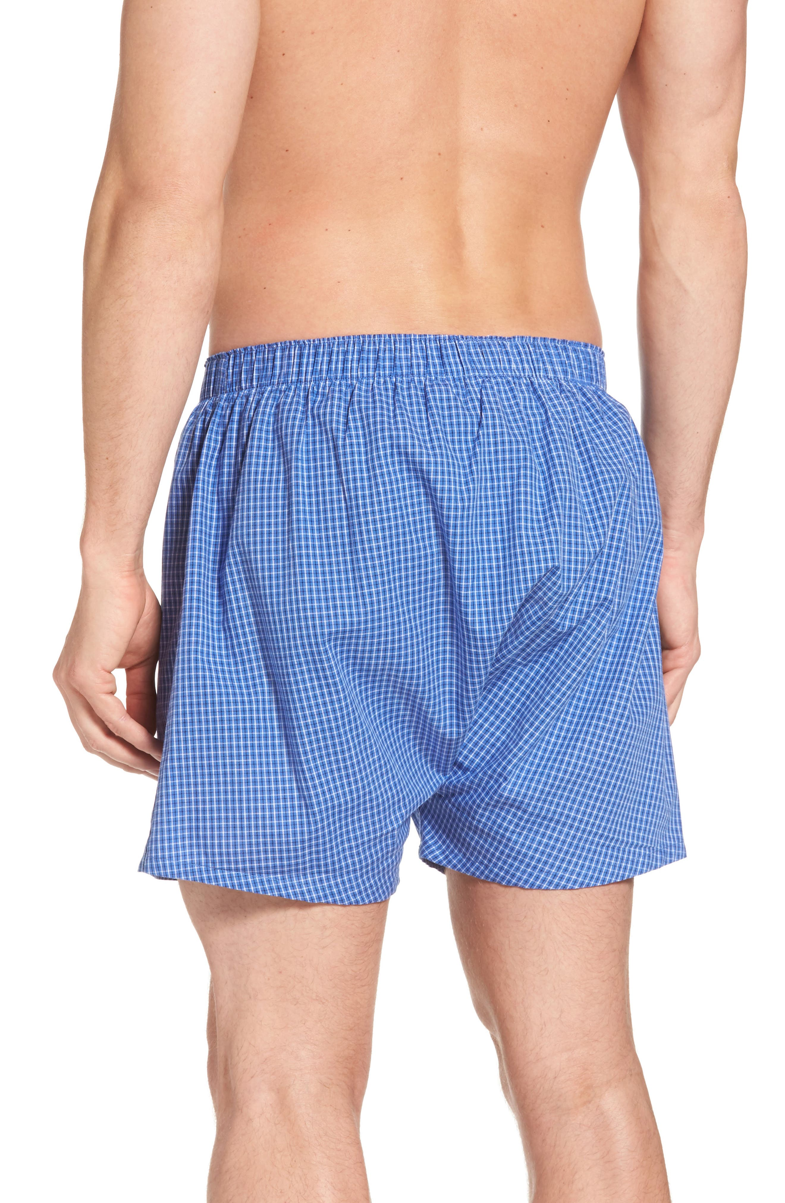 Assorted 3-Pack Woven Cotton Boxers,                             Alternate thumbnail 17, color,