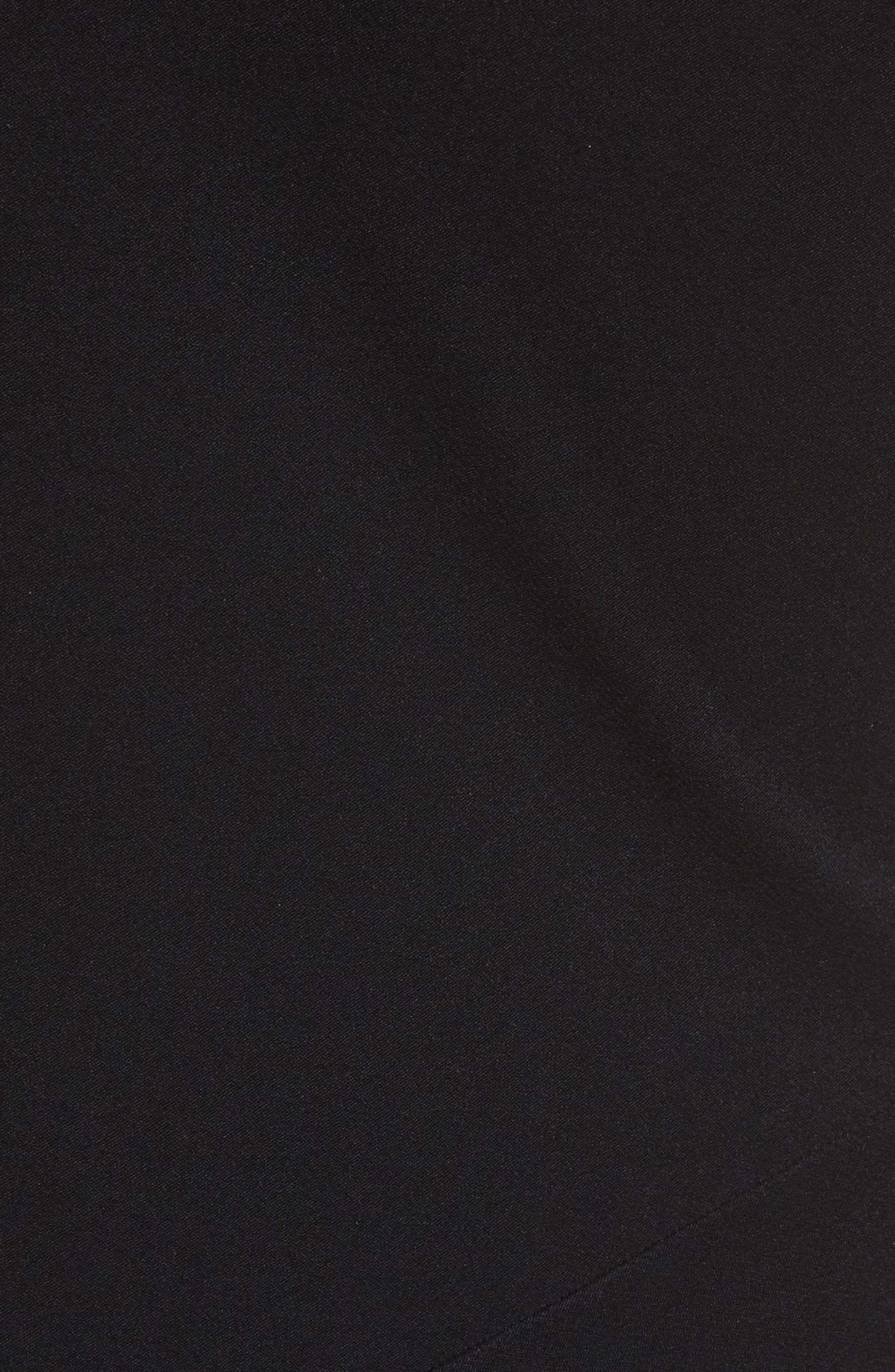 One-Shoulder Midi Dress,                             Alternate thumbnail 5, color,                             001
