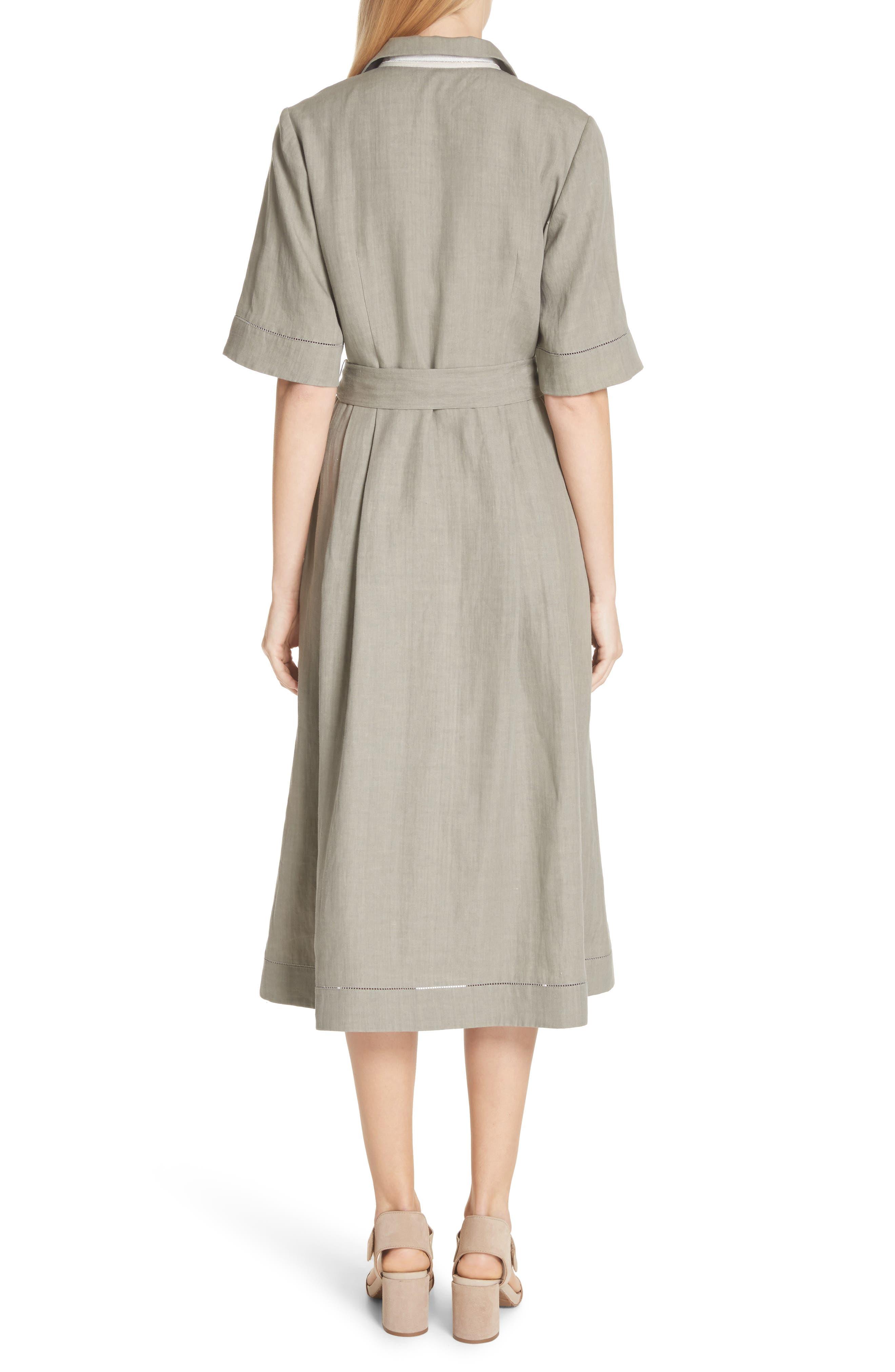 Eleni Linen Shirtdress,                             Alternate thumbnail 2, color,                             033
