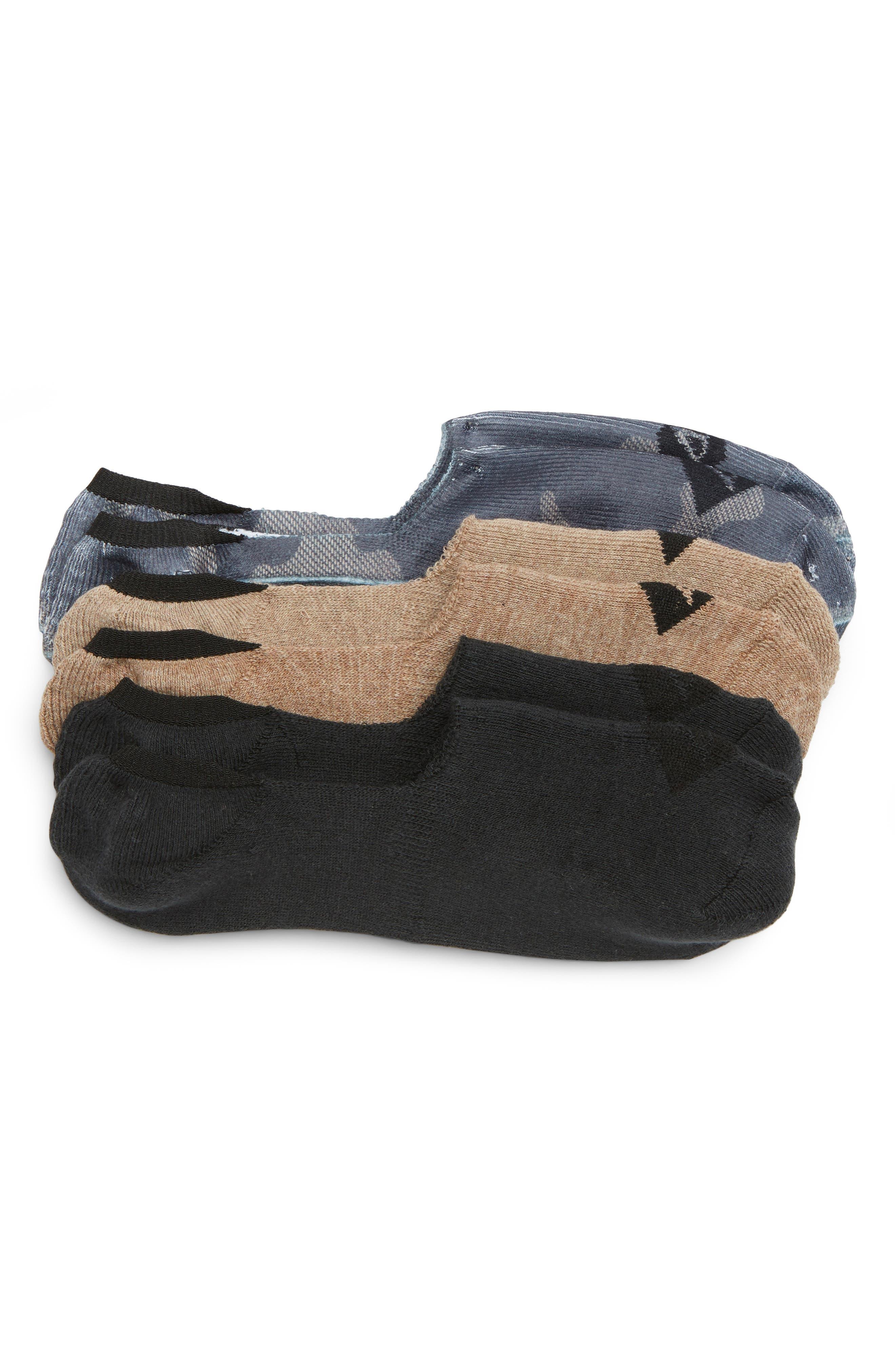 3-Pack Cushion Liner Socks,                             Main thumbnail 1, color,                             206