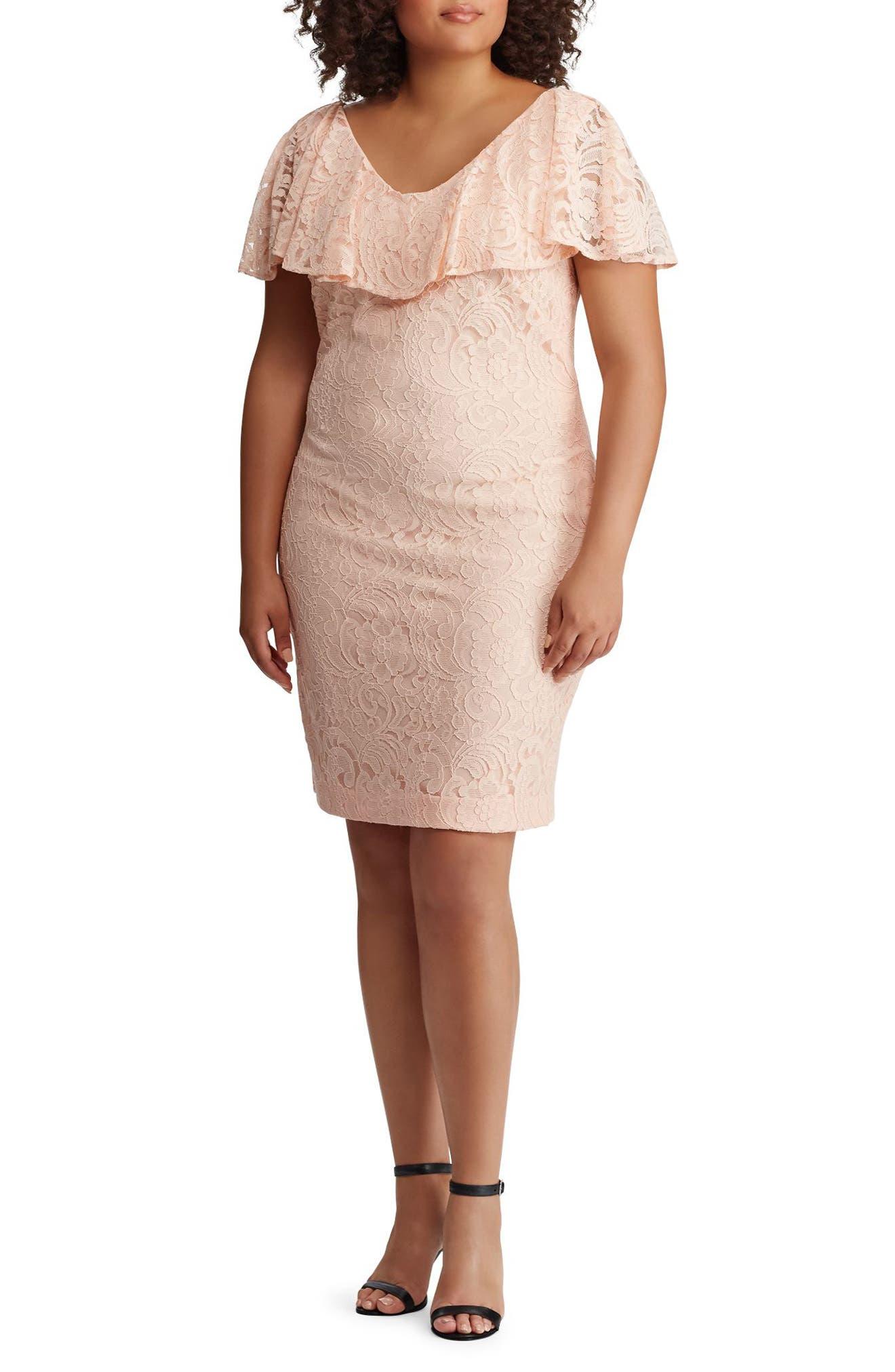 Lace Sheath Dress,                             Main thumbnail 1, color,                             650