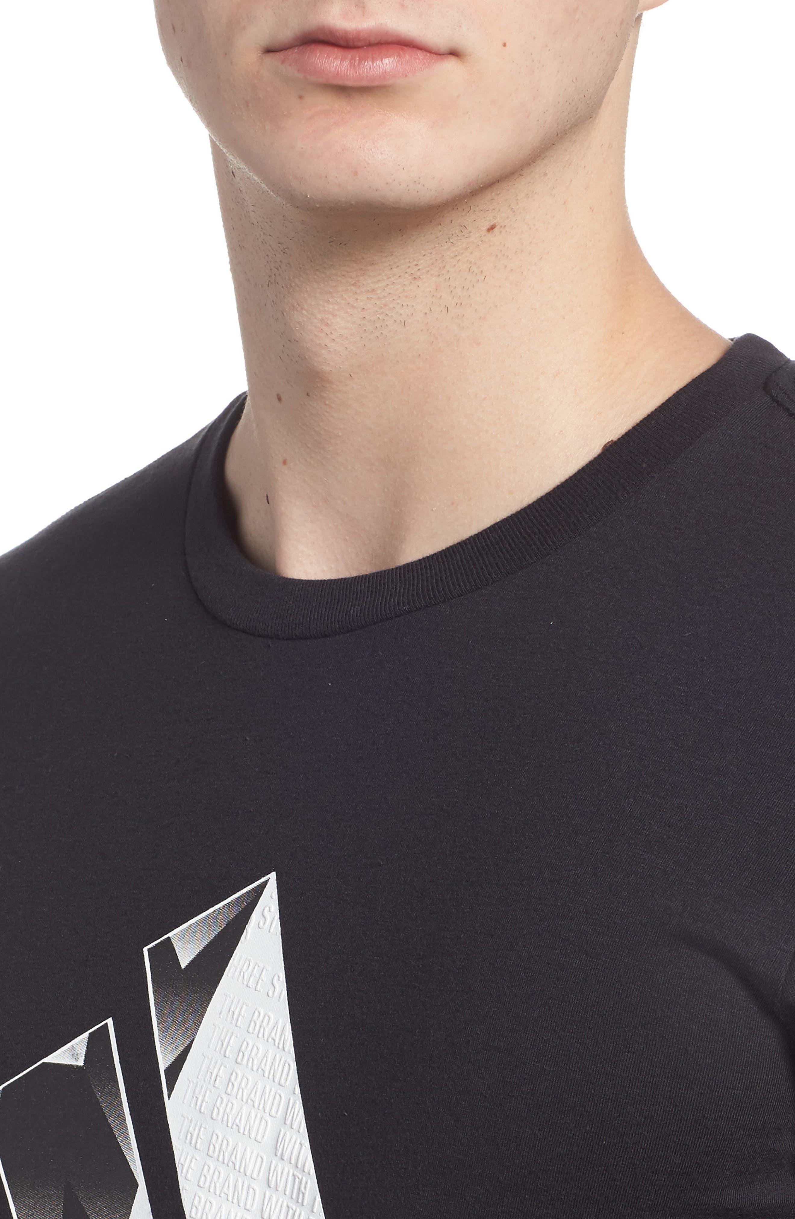Bos Split T-Shirt,                             Alternate thumbnail 4, color,                             001