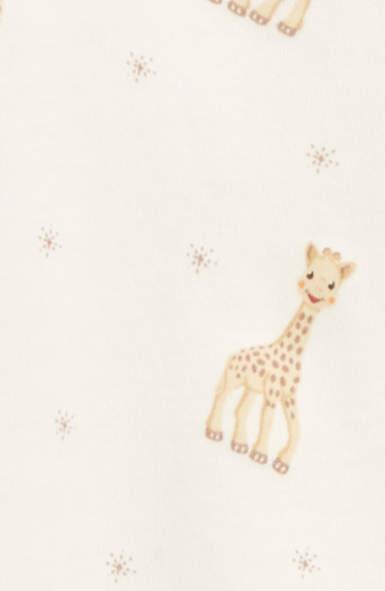 x Sophie la Girafe Print Footie,                             Alternate thumbnail 2, color,                             ECRU PRINT
