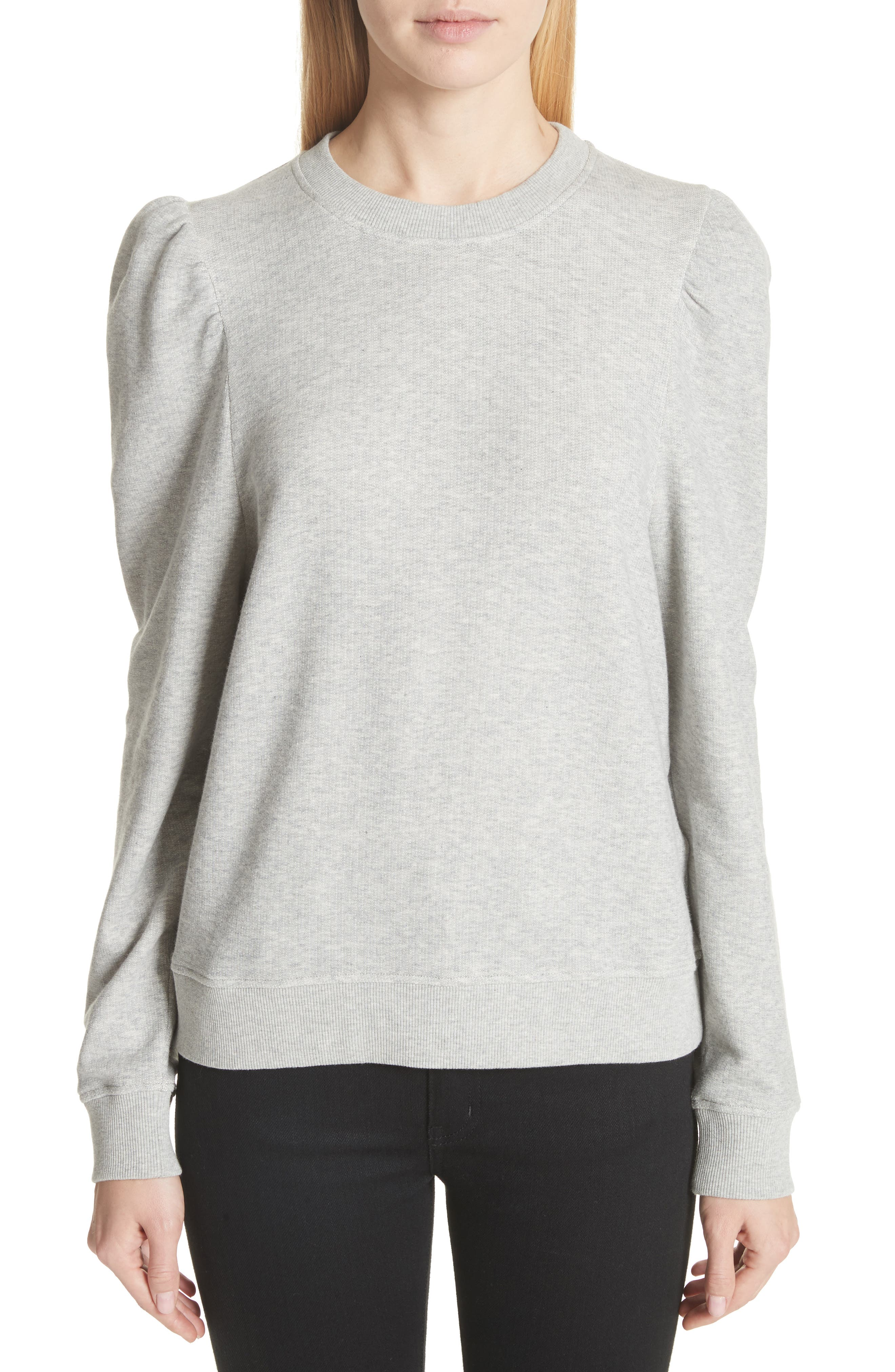 Puff Shoulder Sweater,                         Main,                         color, 030