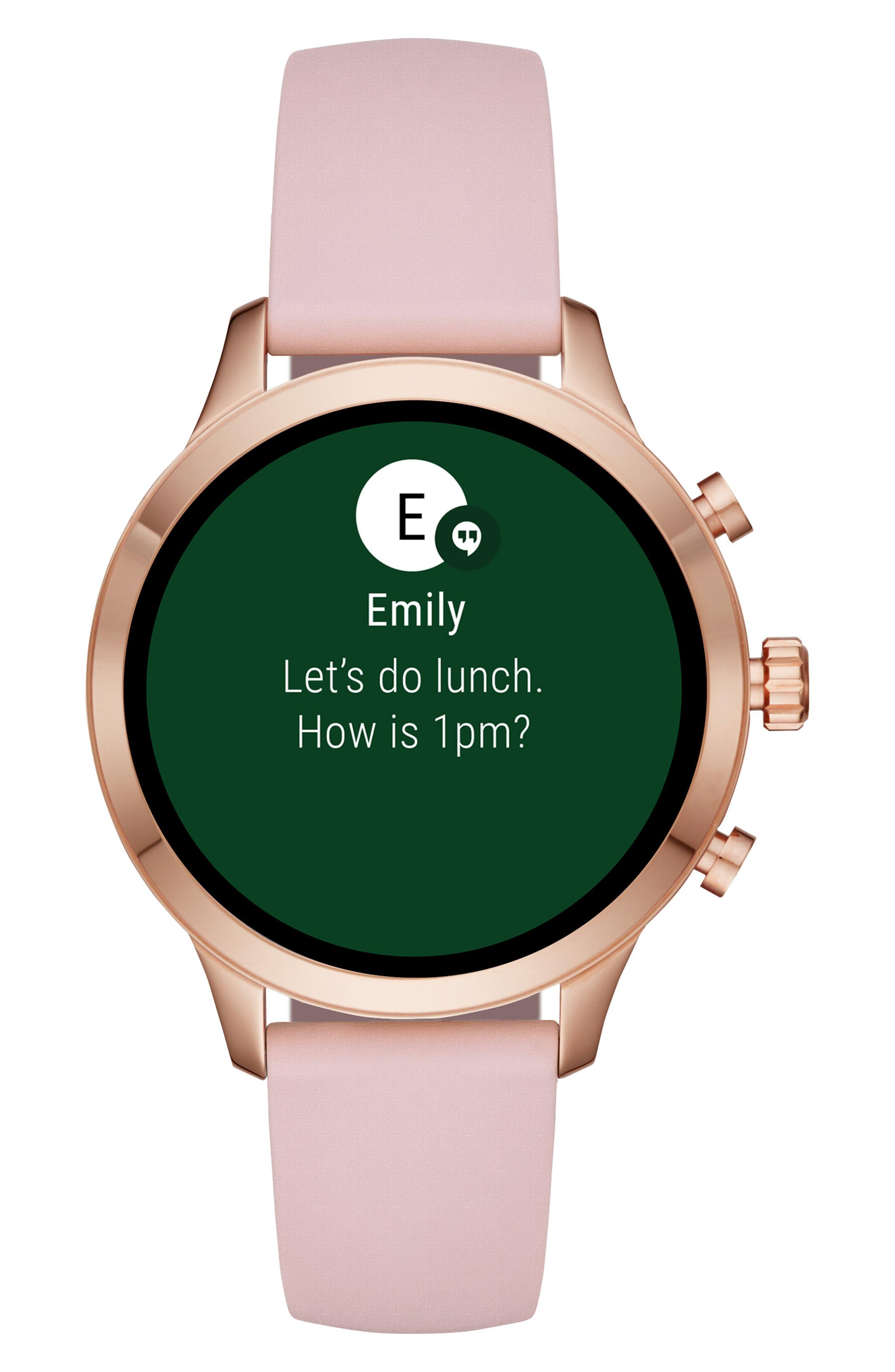 MICHAEL KORS,                             MICHAEL Michael Kors Access Runway Smart Watch, 41mm,                             Alternate thumbnail 6, color,                             PINK/ ROSE GOLD