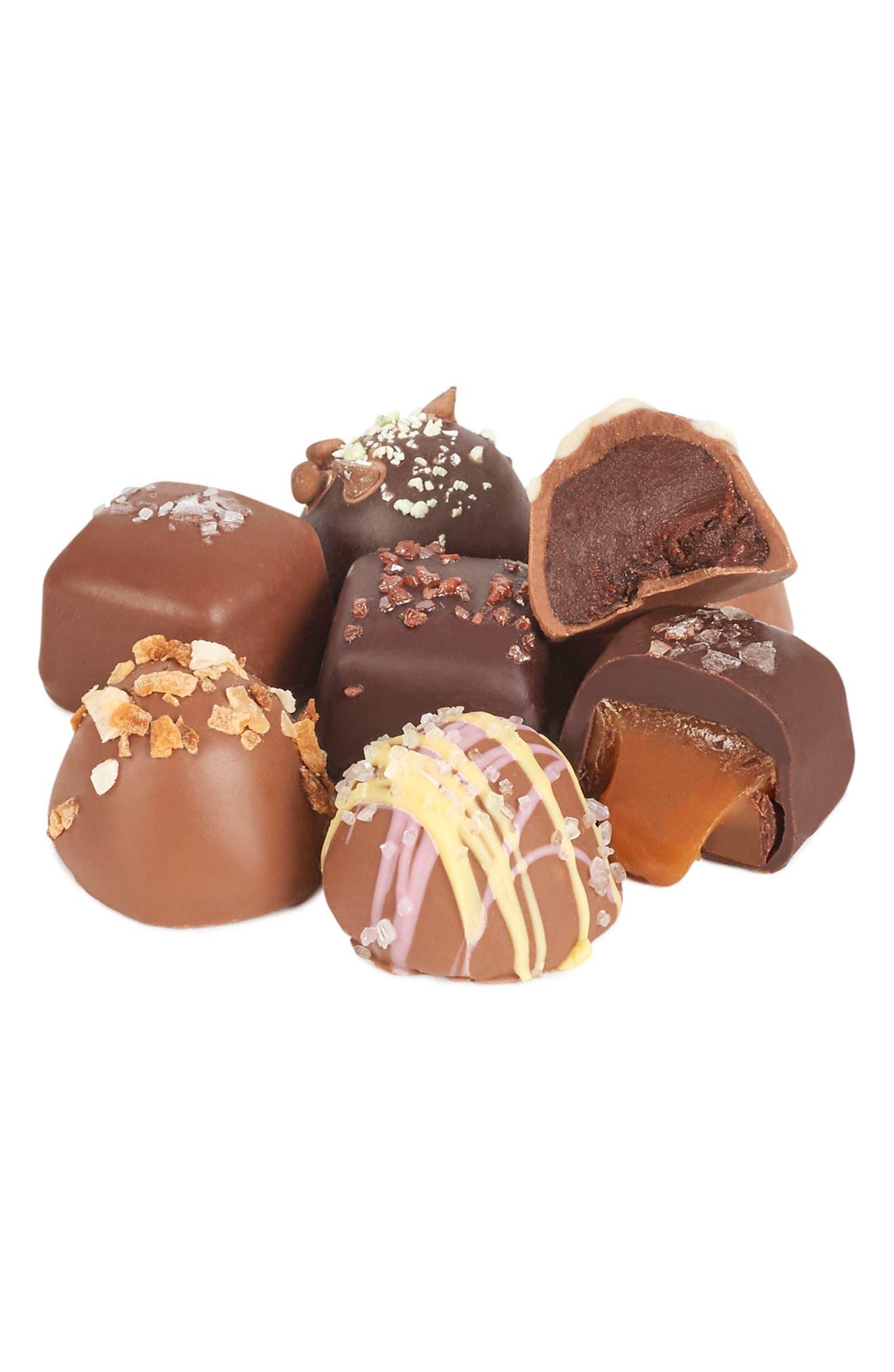 Bar Choc-A-Lot Chocolate Covered Craft Sea Salt Caramels & Truffles Mixed Assortment,                             Alternate thumbnail 2, color,