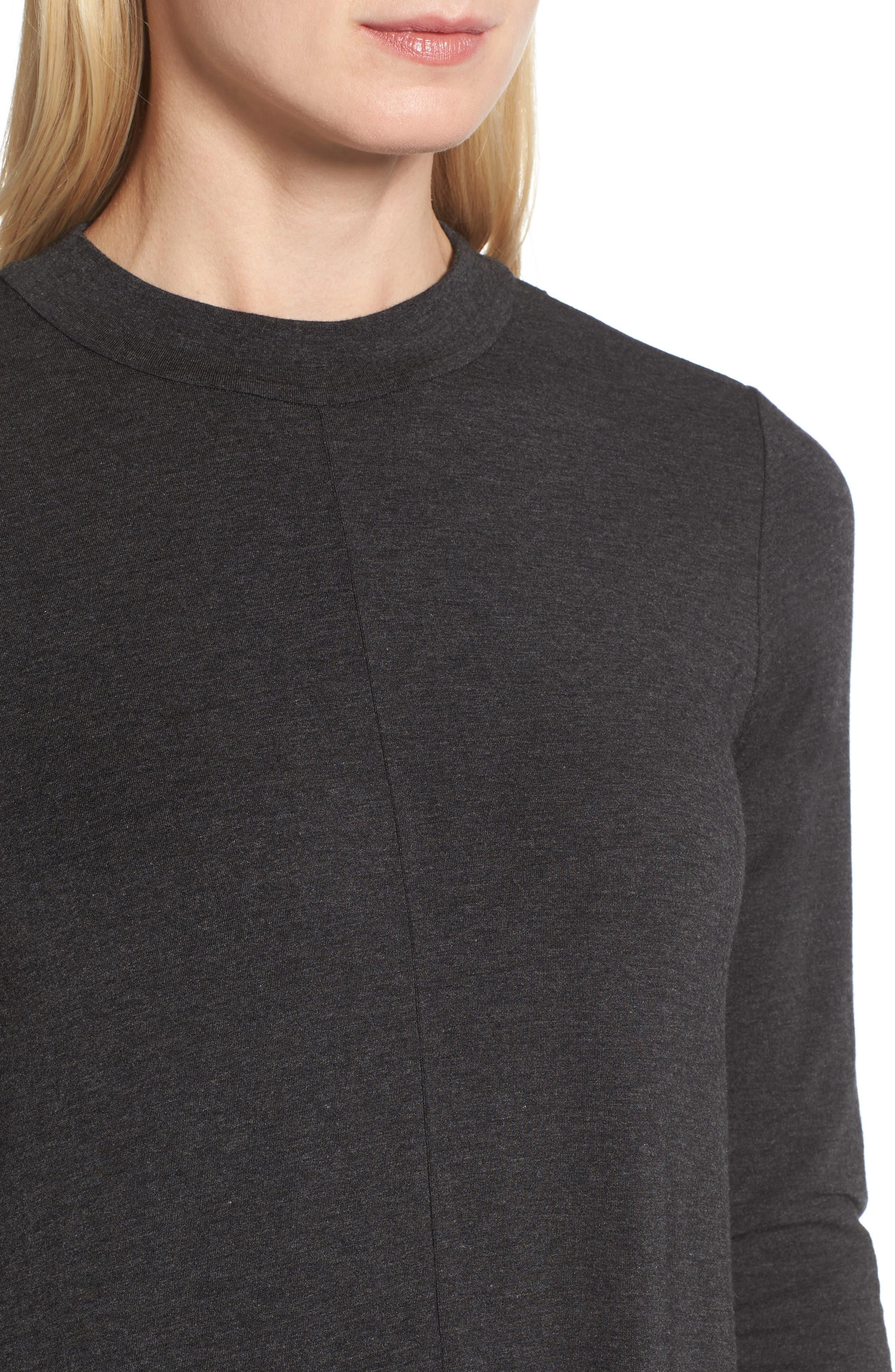 Stretch Tencel<sup>®</sup> Lyocell Midi Dress,                             Alternate thumbnail 4, color,                             021