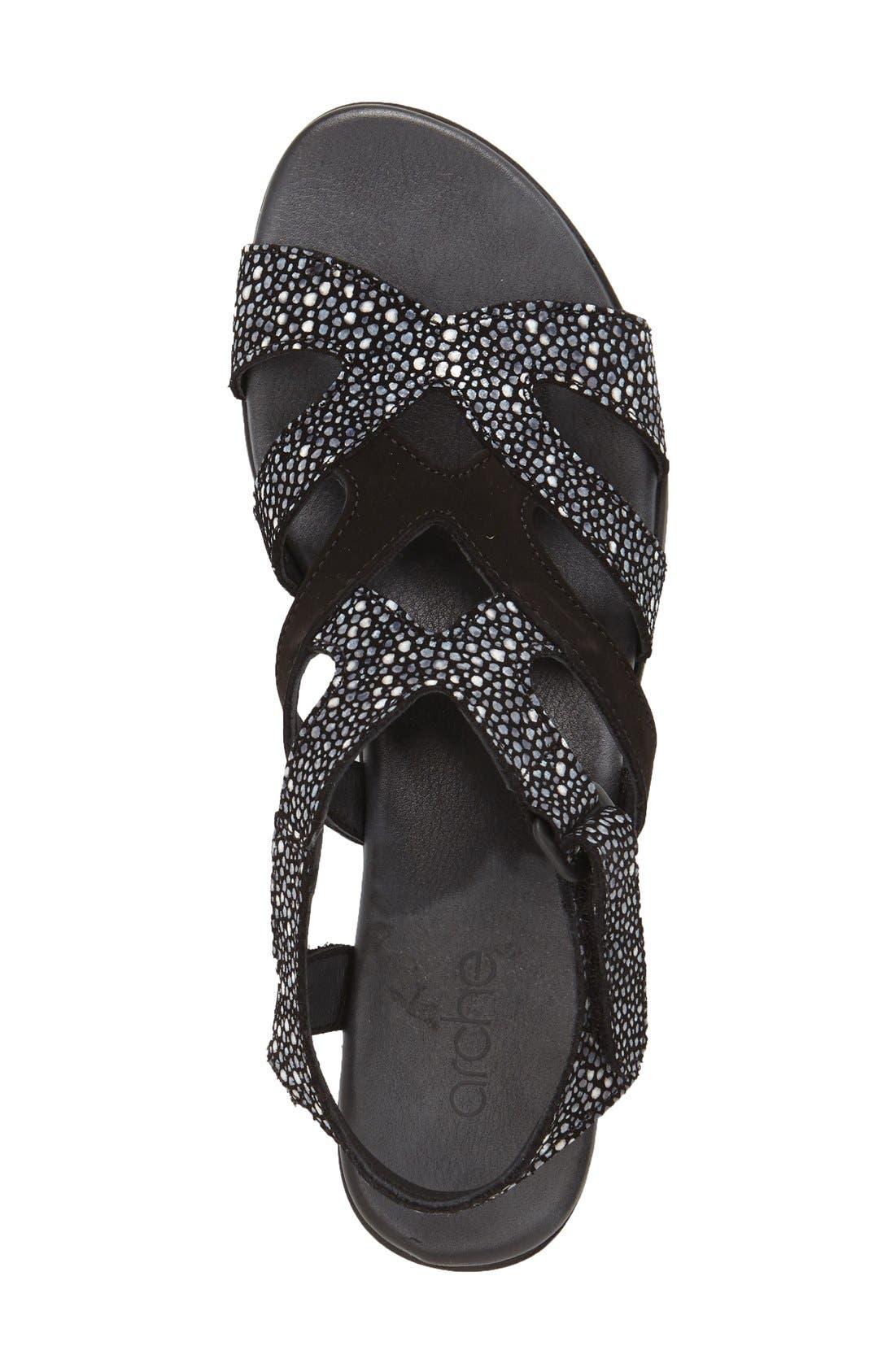 'Obela' Water Resistant Leather Sandal,                             Alternate thumbnail 13, color,
