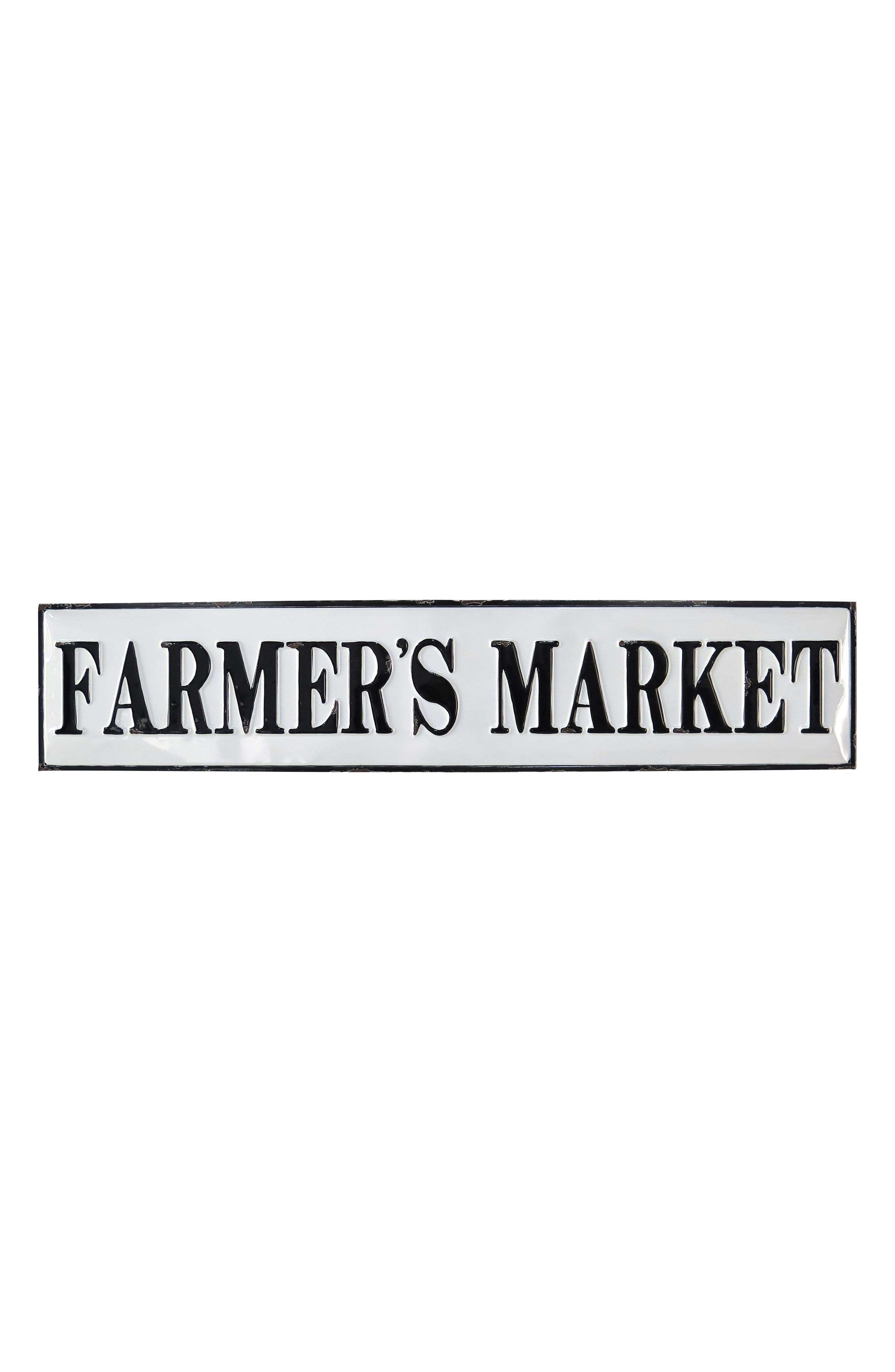 FORESIDE,                             Farmer's Market Wall Plaque,                             Main thumbnail 1, color,                             METAL