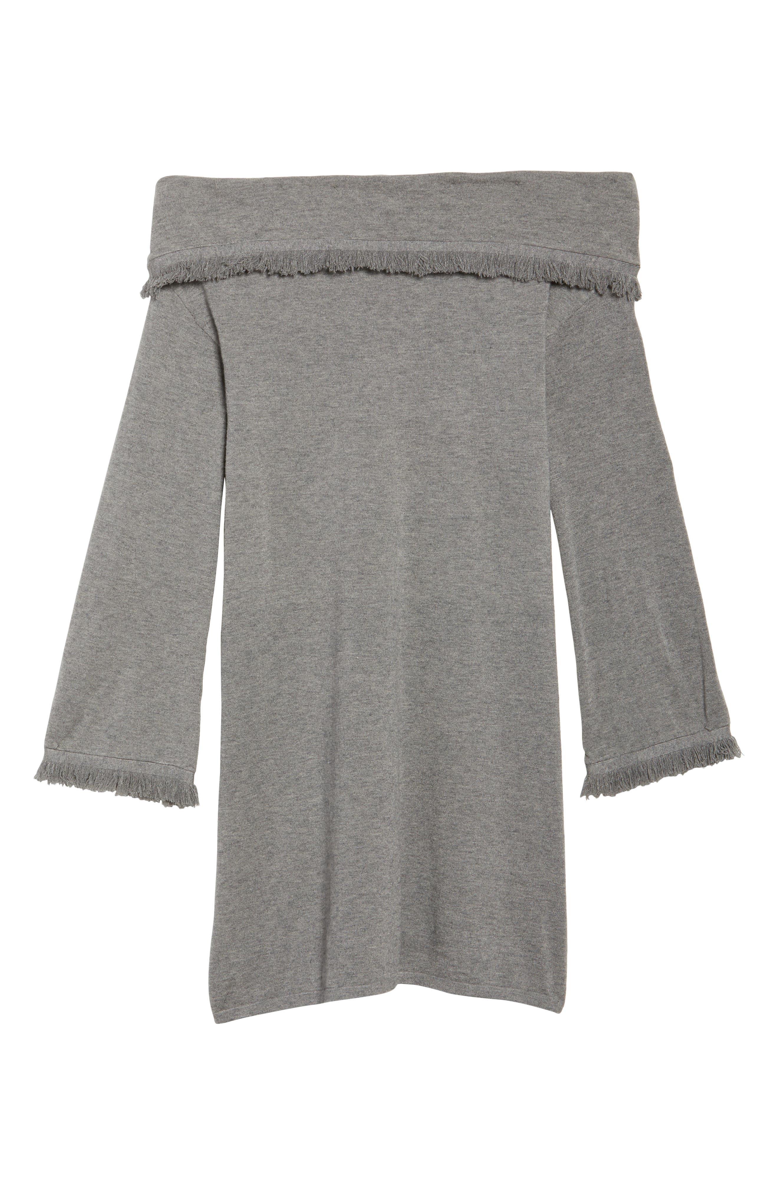 Off the Shoulder Knit Dress,                             Alternate thumbnail 6, color,