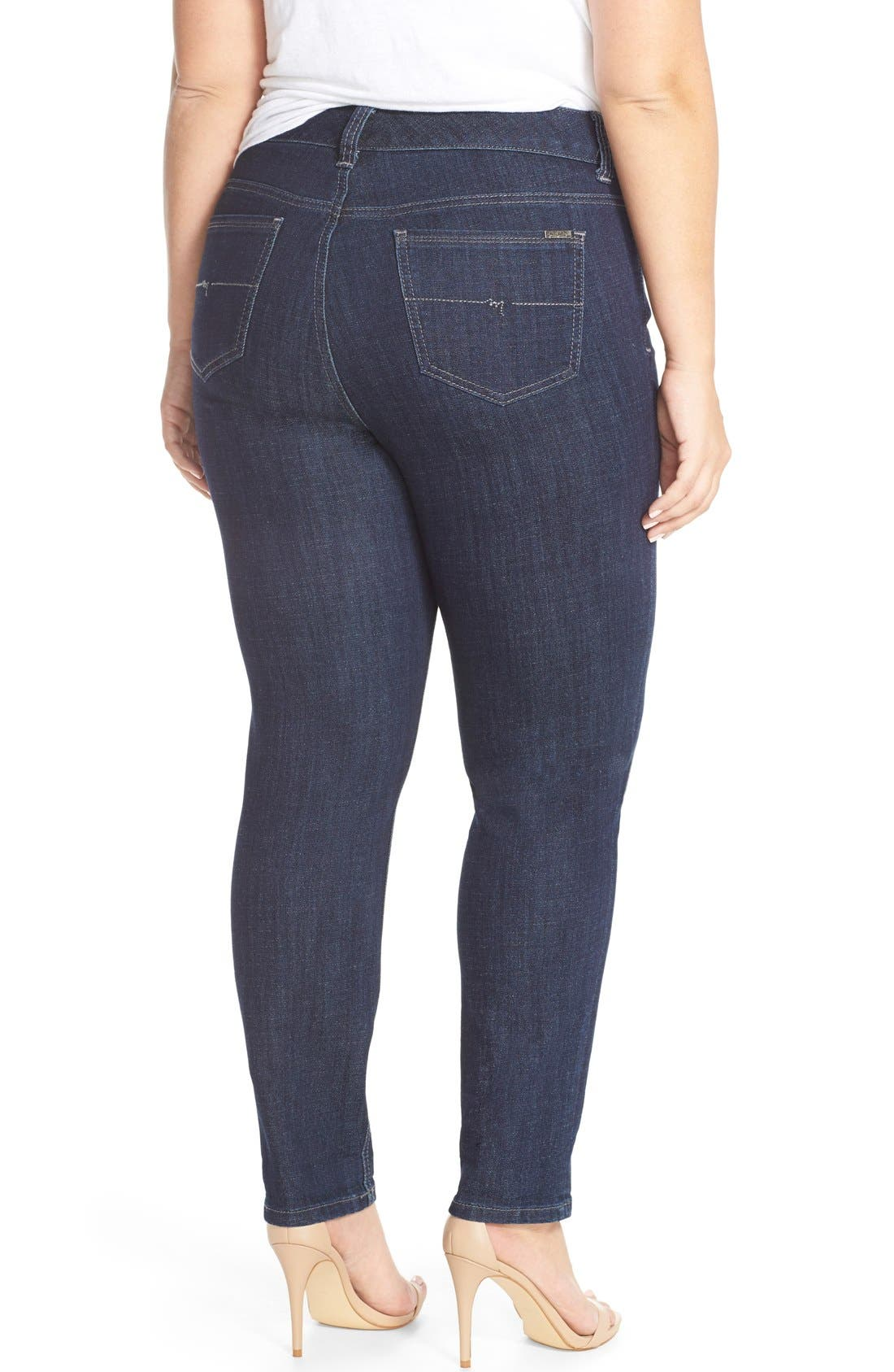 Stretch Straight Leg Jeans,                             Alternate thumbnail 3, color,                             412