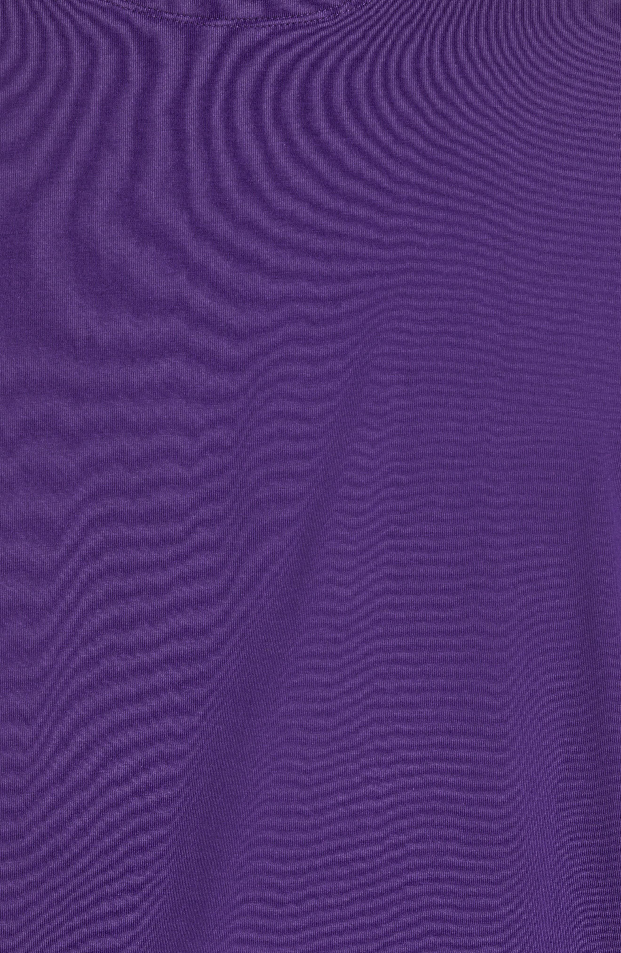 'Liquid Cotton' Long Sleeve Jersey Polo,                             Alternate thumbnail 5, color,                             PURPLE