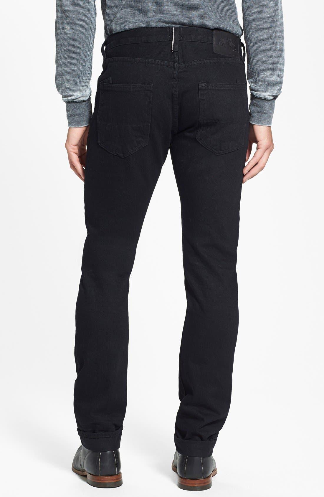 'Demon' Slim Straight Leg Selvedge Jeans,                             Alternate thumbnail 6, color,                             013