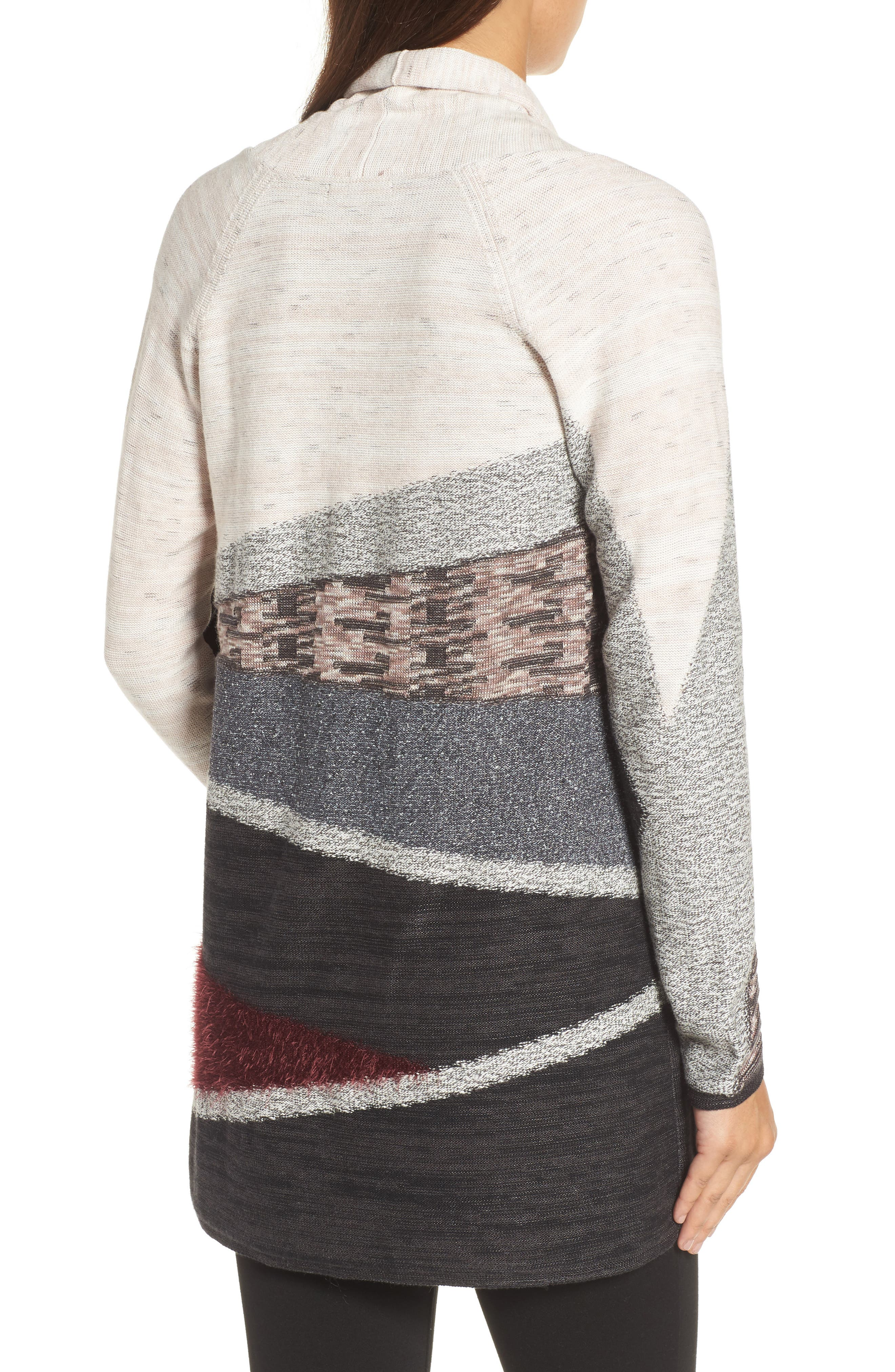 Nic + Zoe Dynasty Open Front Cardigan,                             Alternate thumbnail 2, color,                             090
