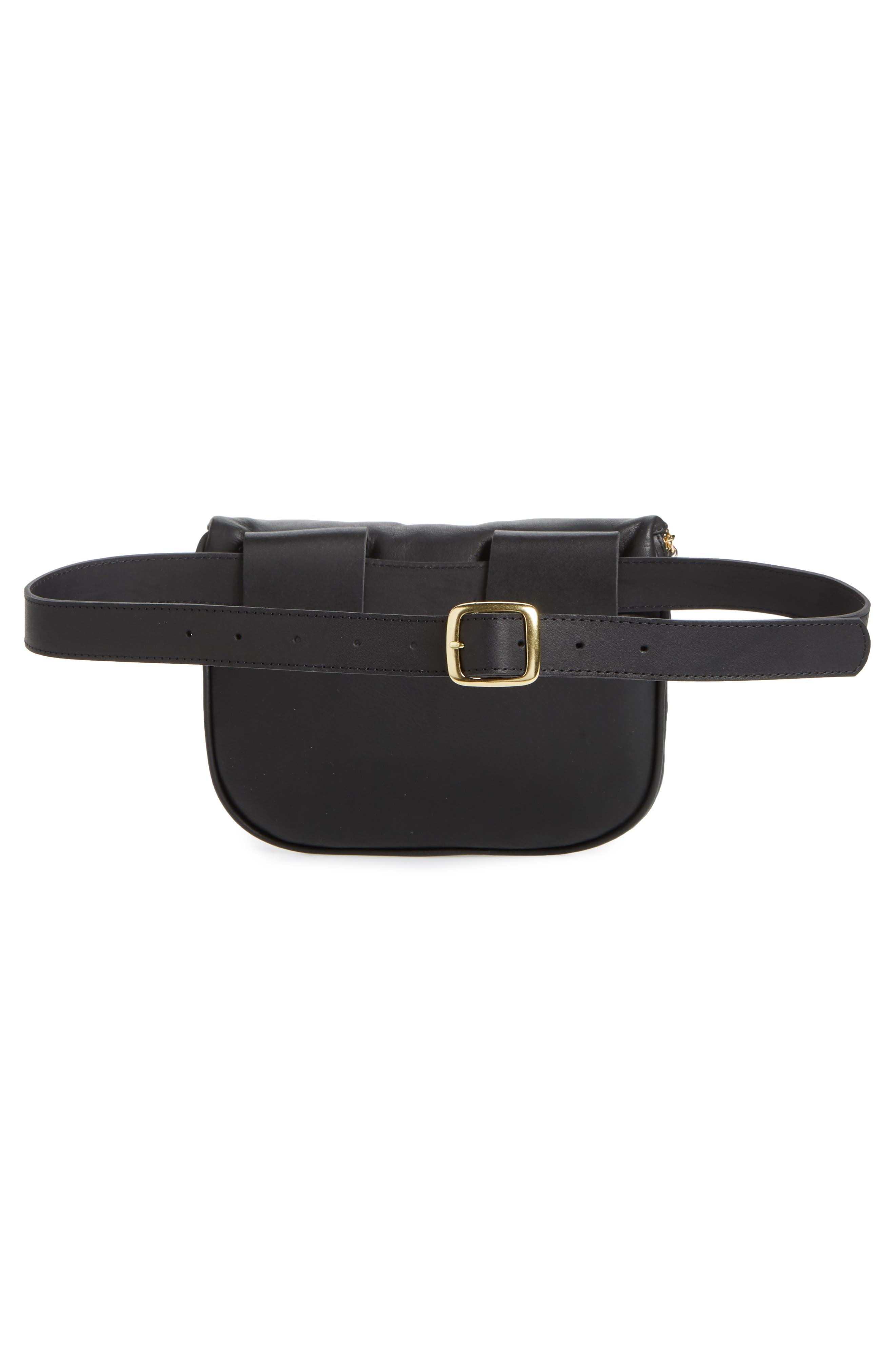 Leather Fanny Pack,                             Alternate thumbnail 6, color,