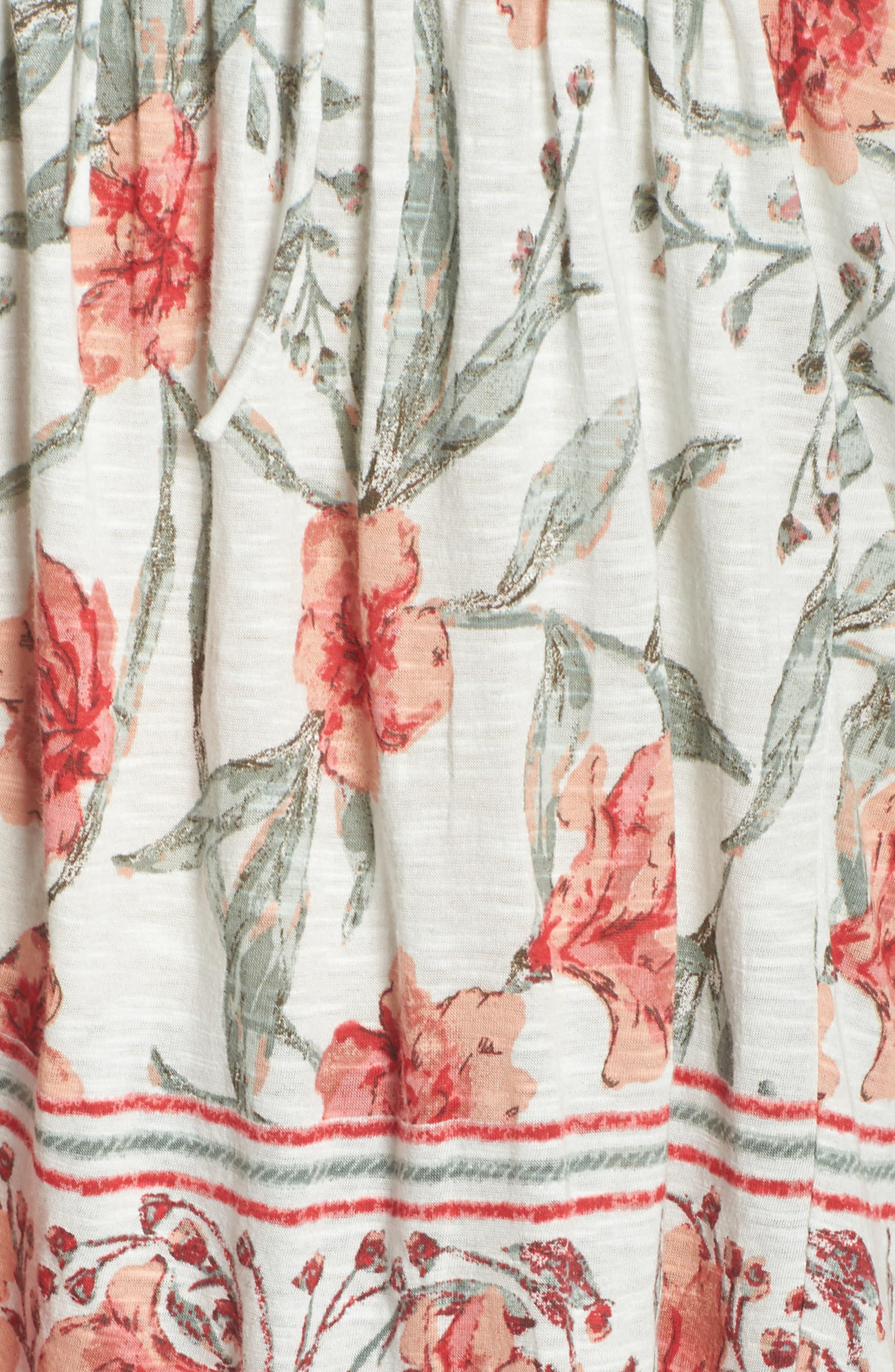 Floral Flutter Sleeve Top,                             Alternate thumbnail 5, color,                             460