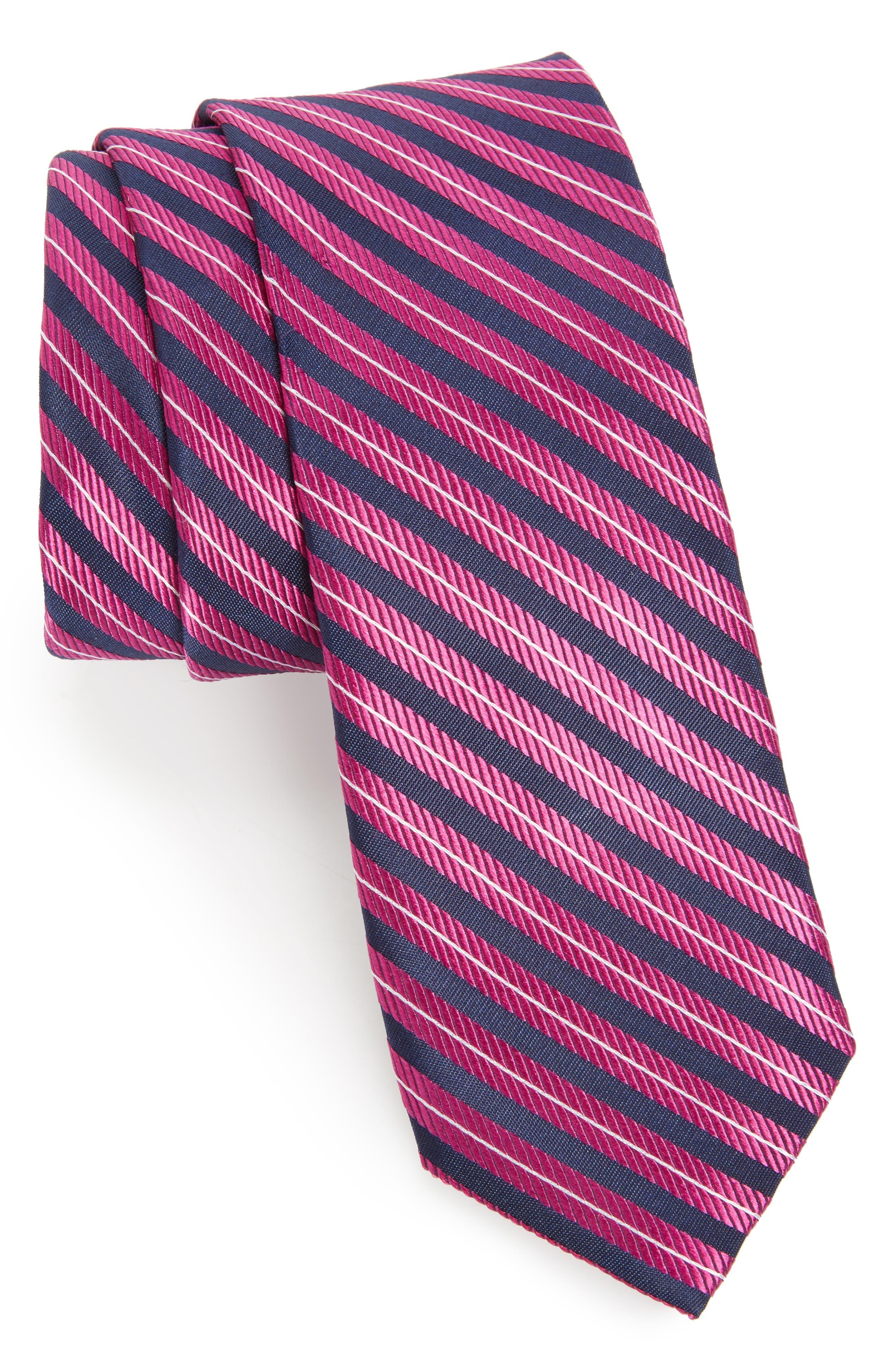 Milliner Stripe Silk Tie,                             Main thumbnail 3, color,