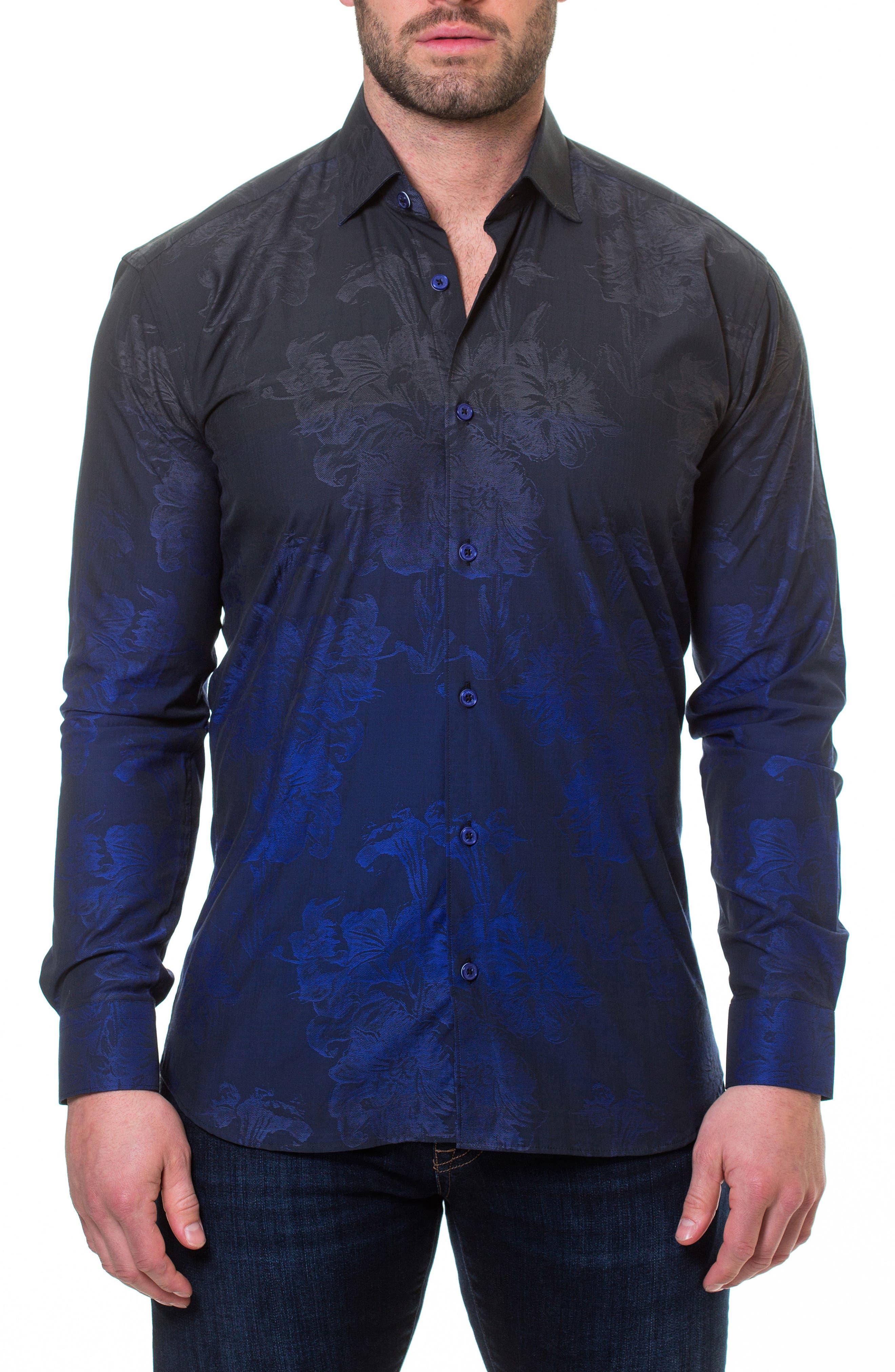 Luxor Mariana Blue Slim Fit Sport Shirt,                             Alternate thumbnail 4, color,