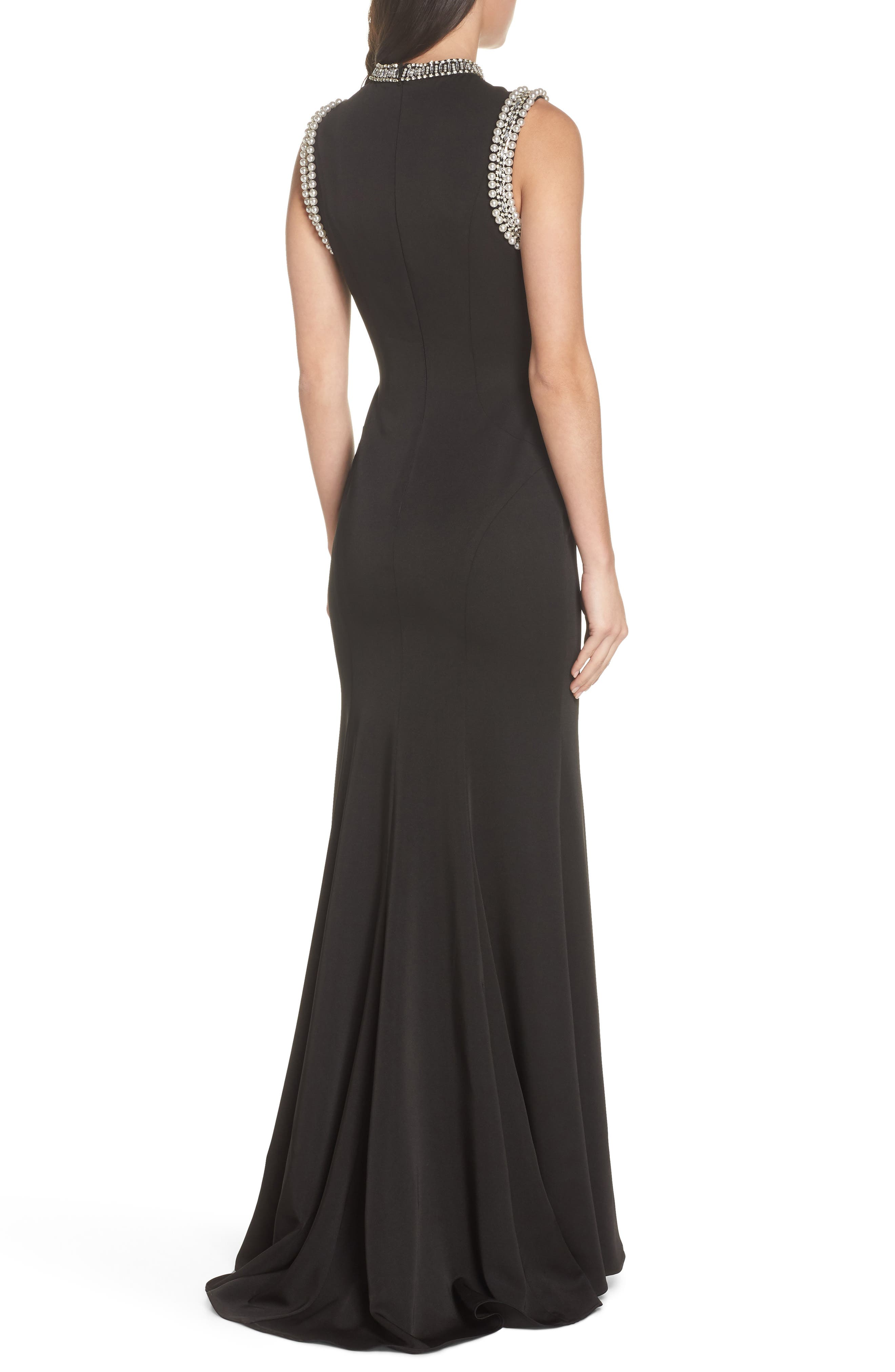 Mac Duggal Embellished Trumpet Gown,                             Alternate thumbnail 2, color,                             001