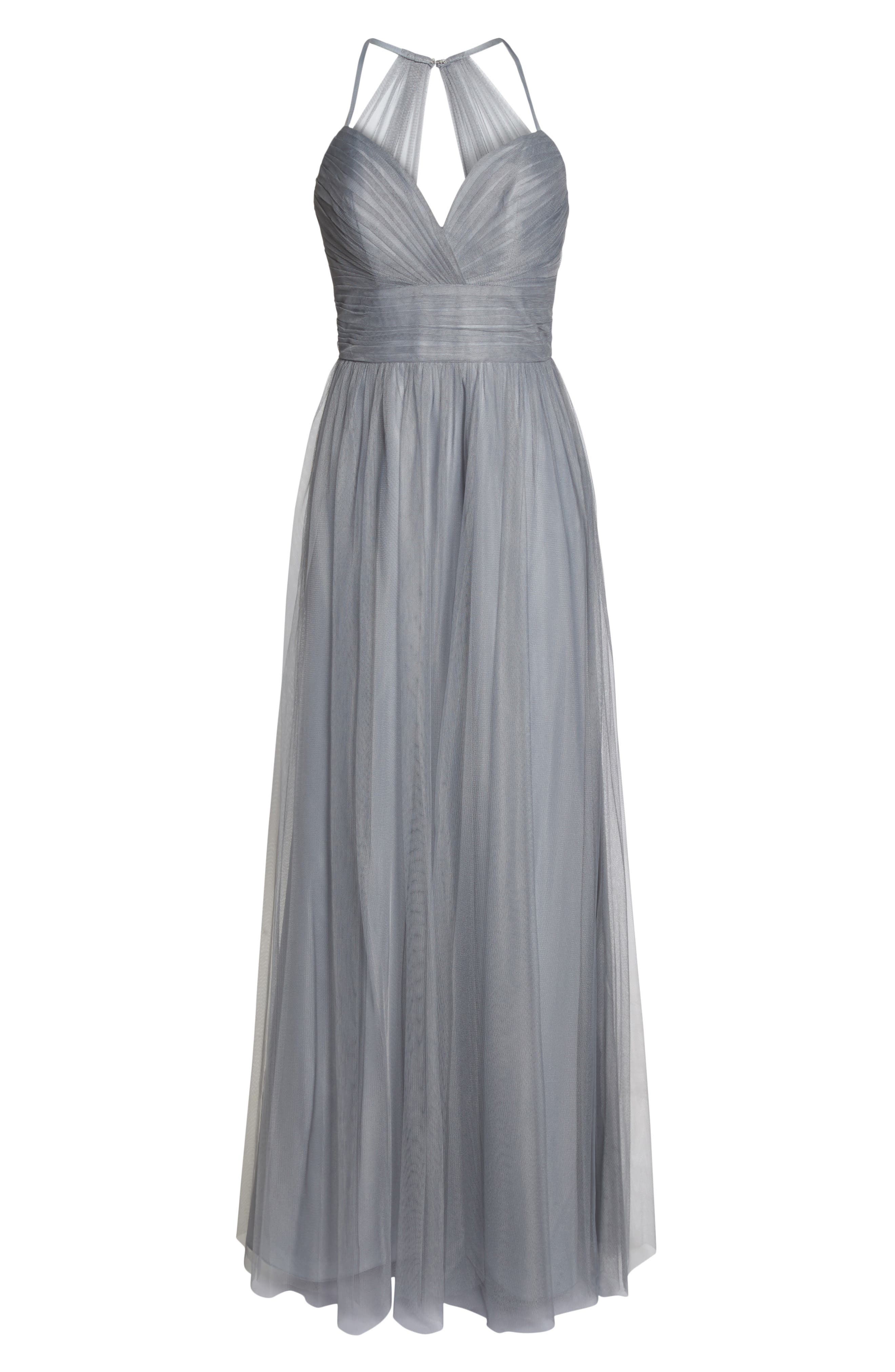 English Net Gown,                             Alternate thumbnail 6, color,                             PEWTER