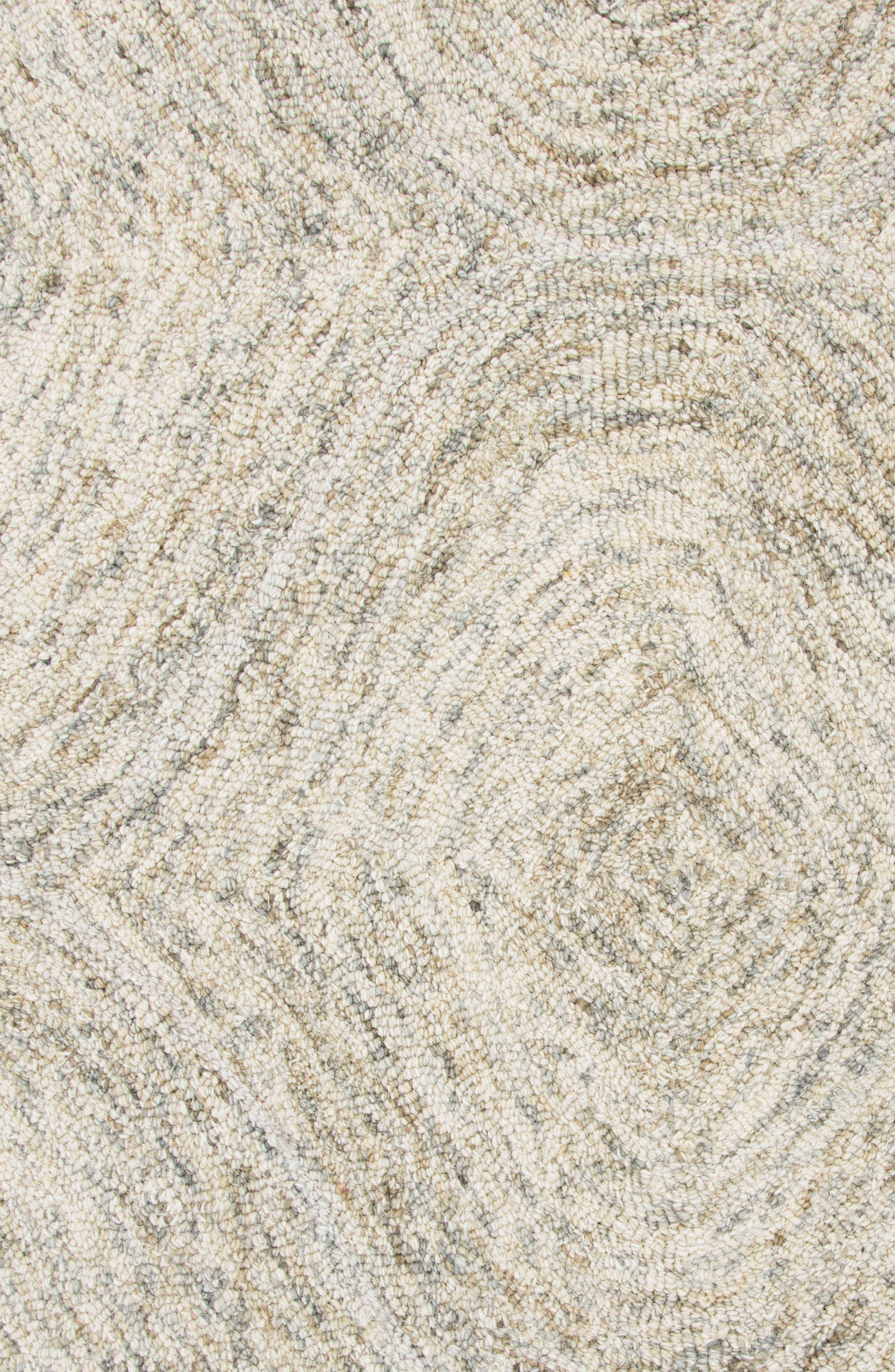 Irregular Diamond Hand Tufted Wool Area Rug,                             Alternate thumbnail 7, color,