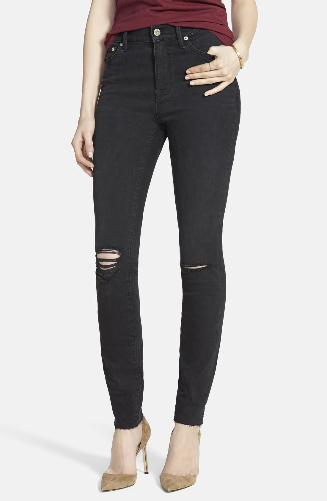 9-Inch High-Rise Skinny Jeans,                             Alternate thumbnail 5, color,                             001