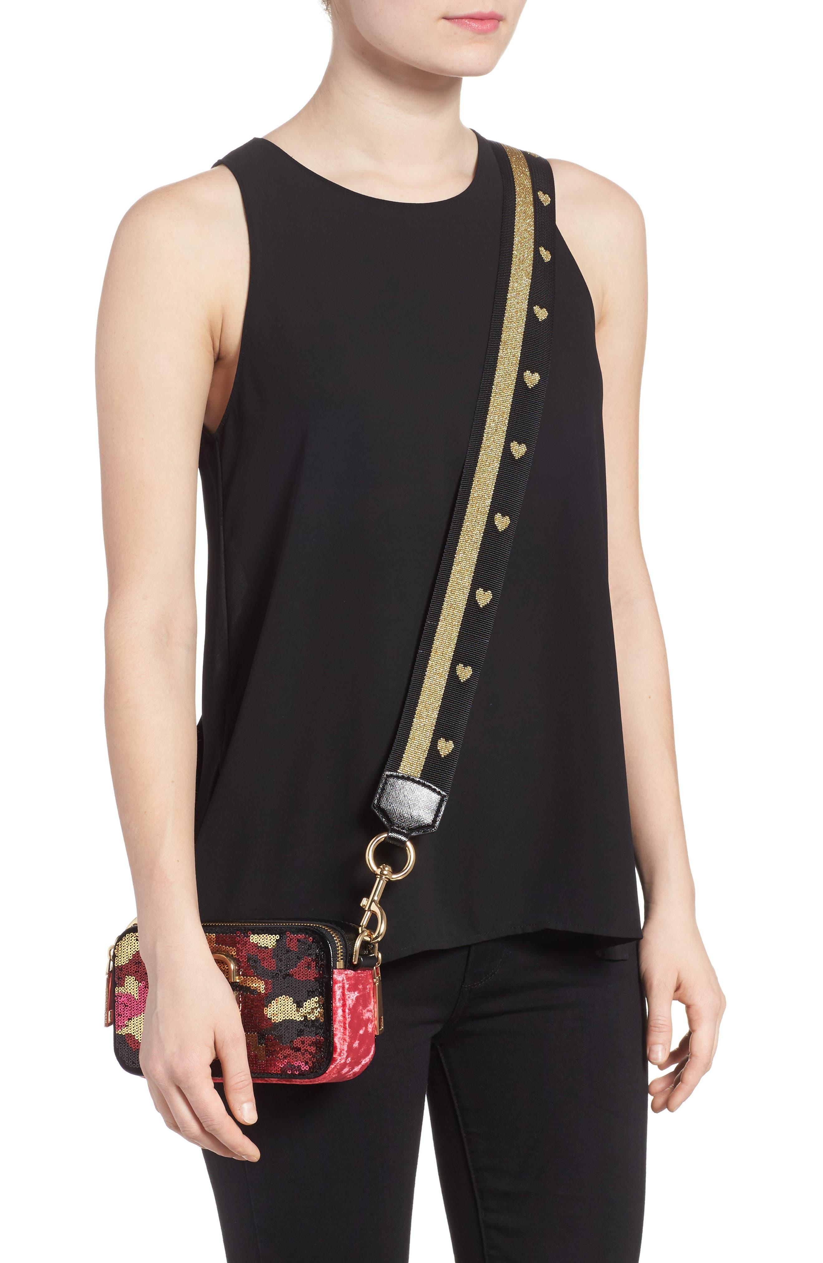Snapshot Camo Sequin Embellished Crossbody Bag,                             Alternate thumbnail 2, color,                             PINK MULTI