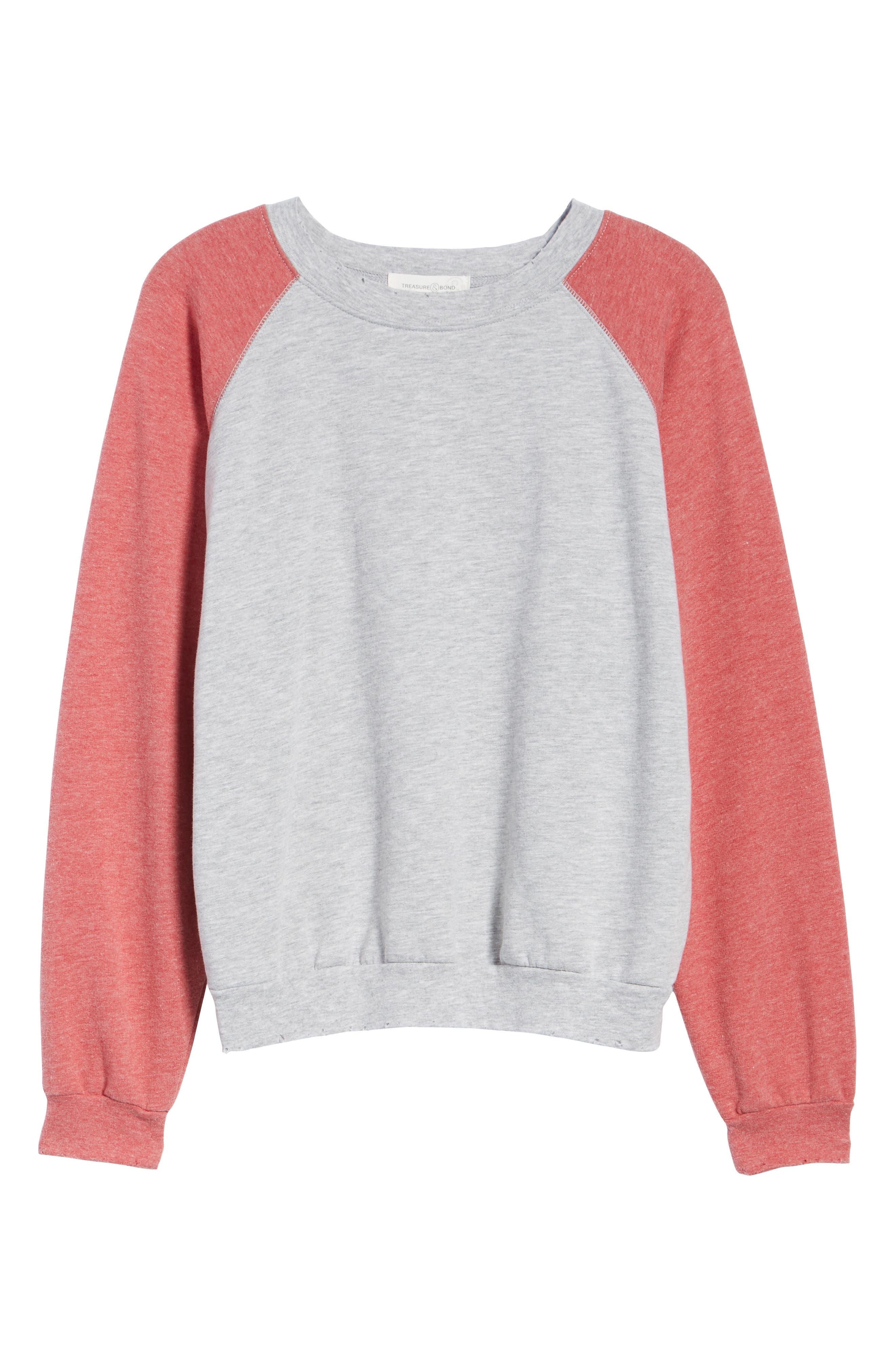 Raglan Sweatshirt,                             Alternate thumbnail 6, color,                             050