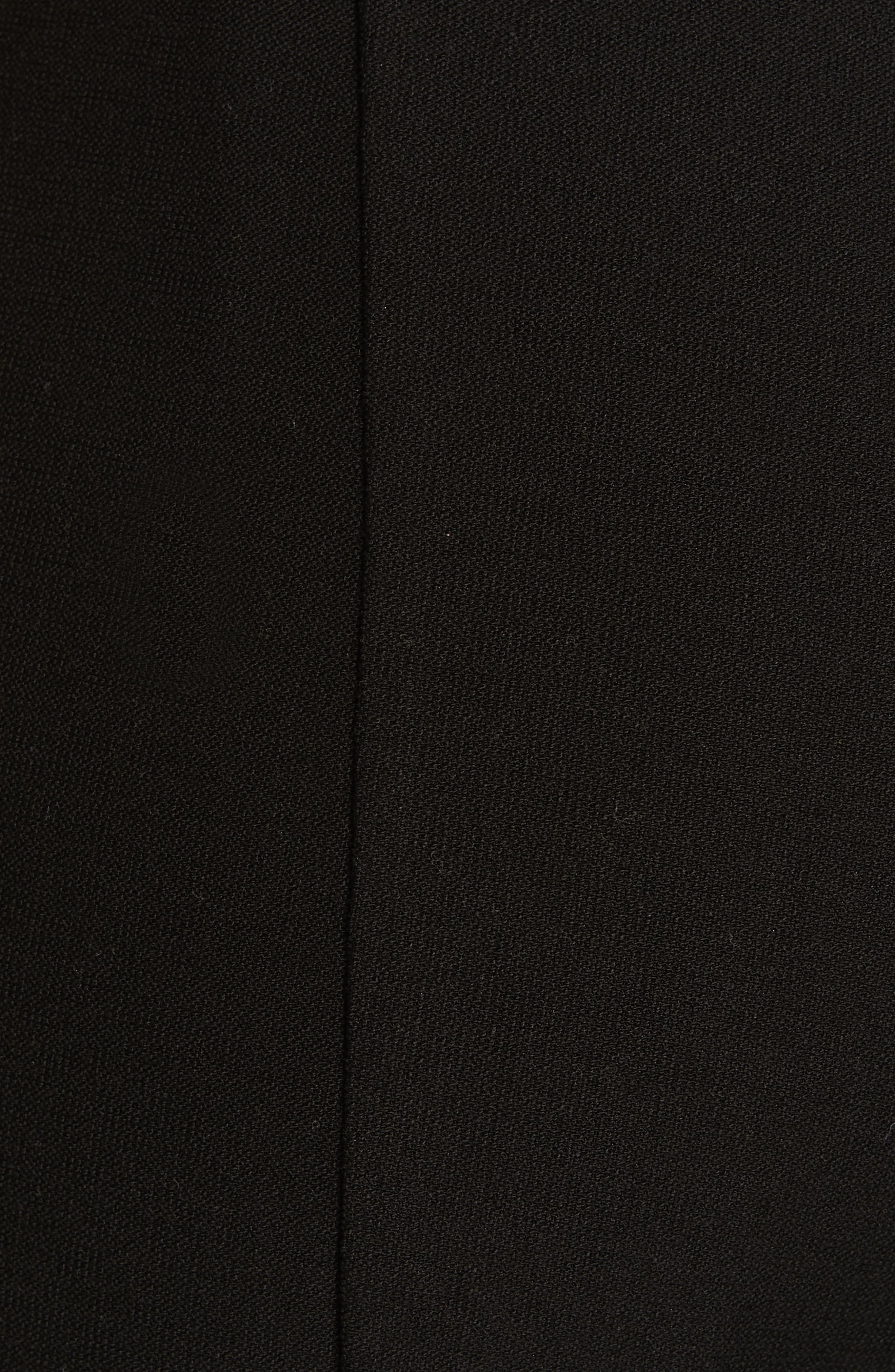 High Waist Slim Ankle Pants,                             Alternate thumbnail 5, color,                             BLACK