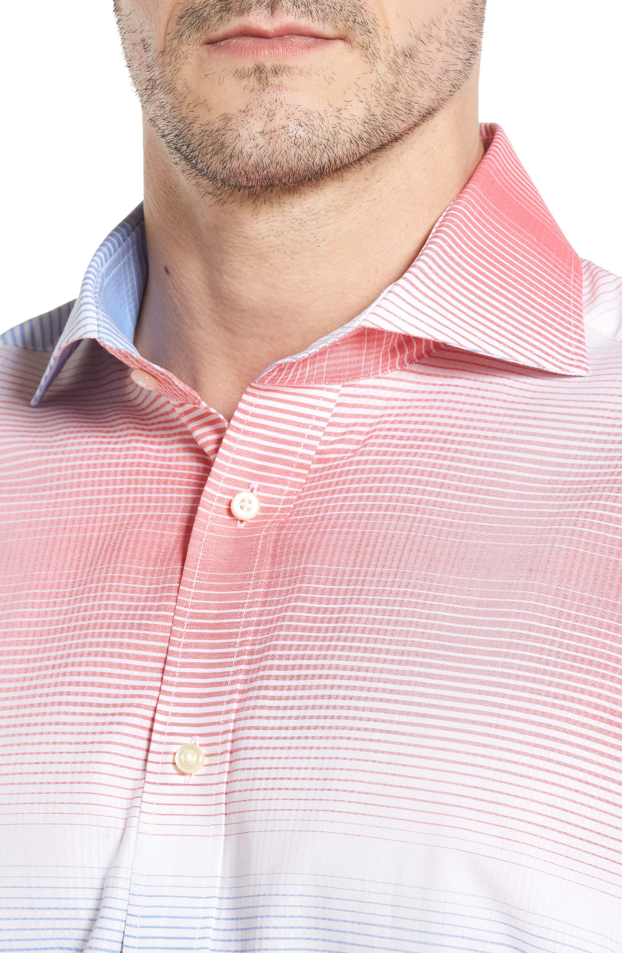 Classic Fit Graduated Check Sport Shirt,                             Alternate thumbnail 4, color,                             420