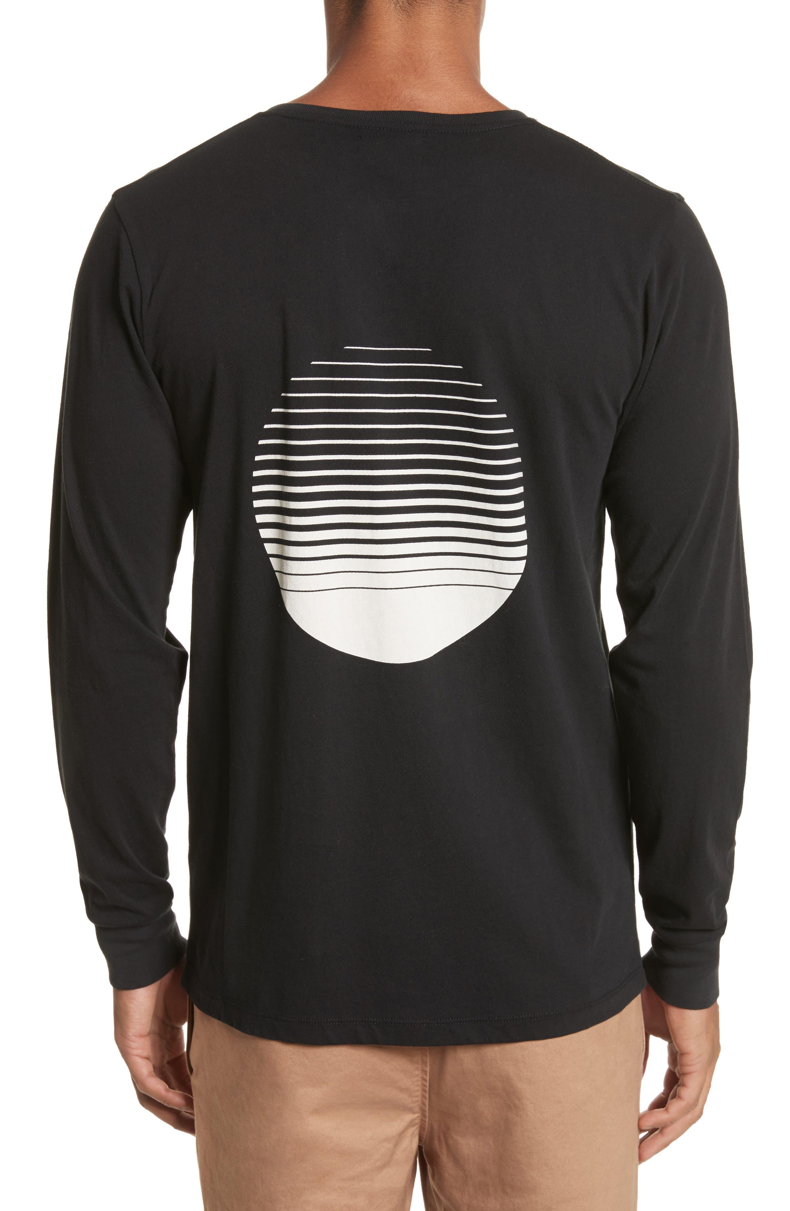 Sunset Graphic Long Sleeve T-Shirt,                             Alternate thumbnail 2, color,                             001