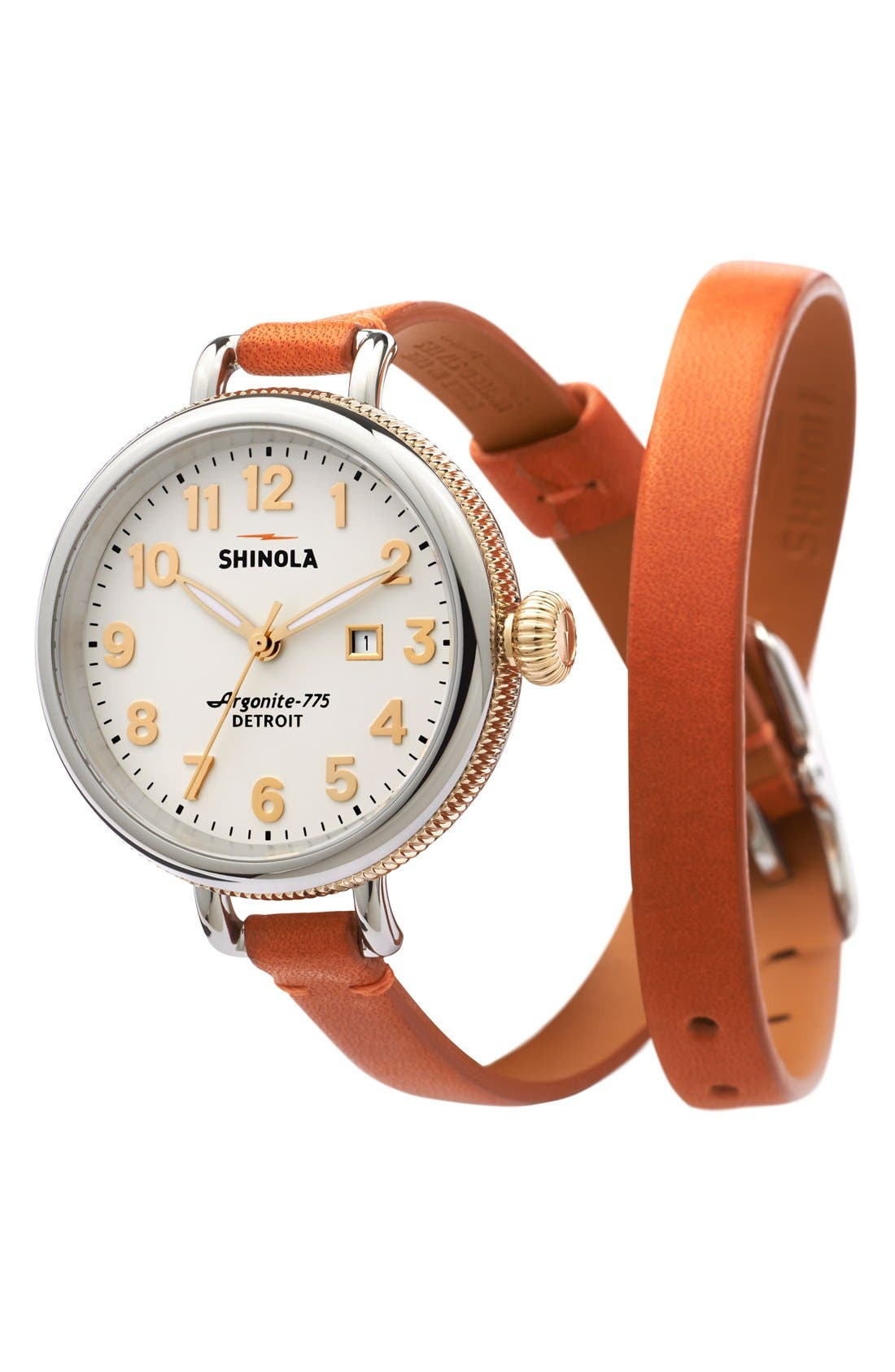 'The Birdy' Double Wrap Leather Strap Watch, 34mm,                             Alternate thumbnail 64, color,