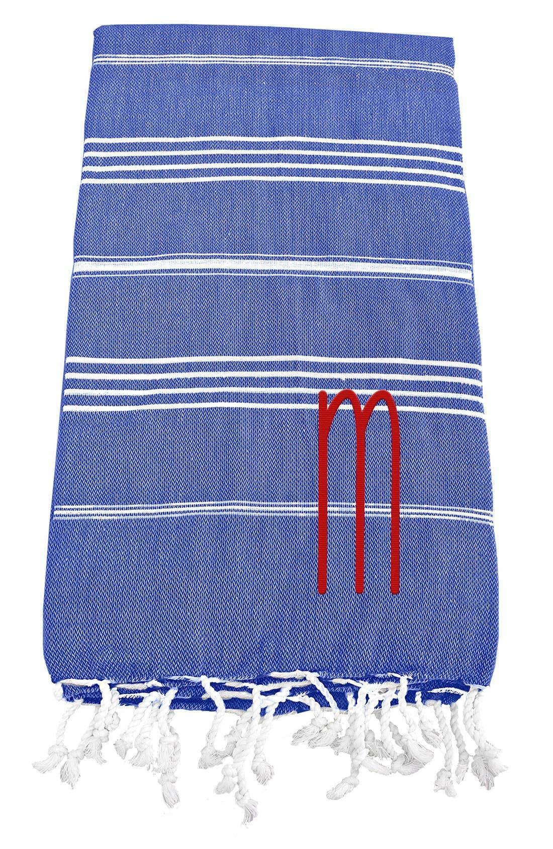 Monogram Turkish Cotton Towel,                             Main thumbnail 69, color,