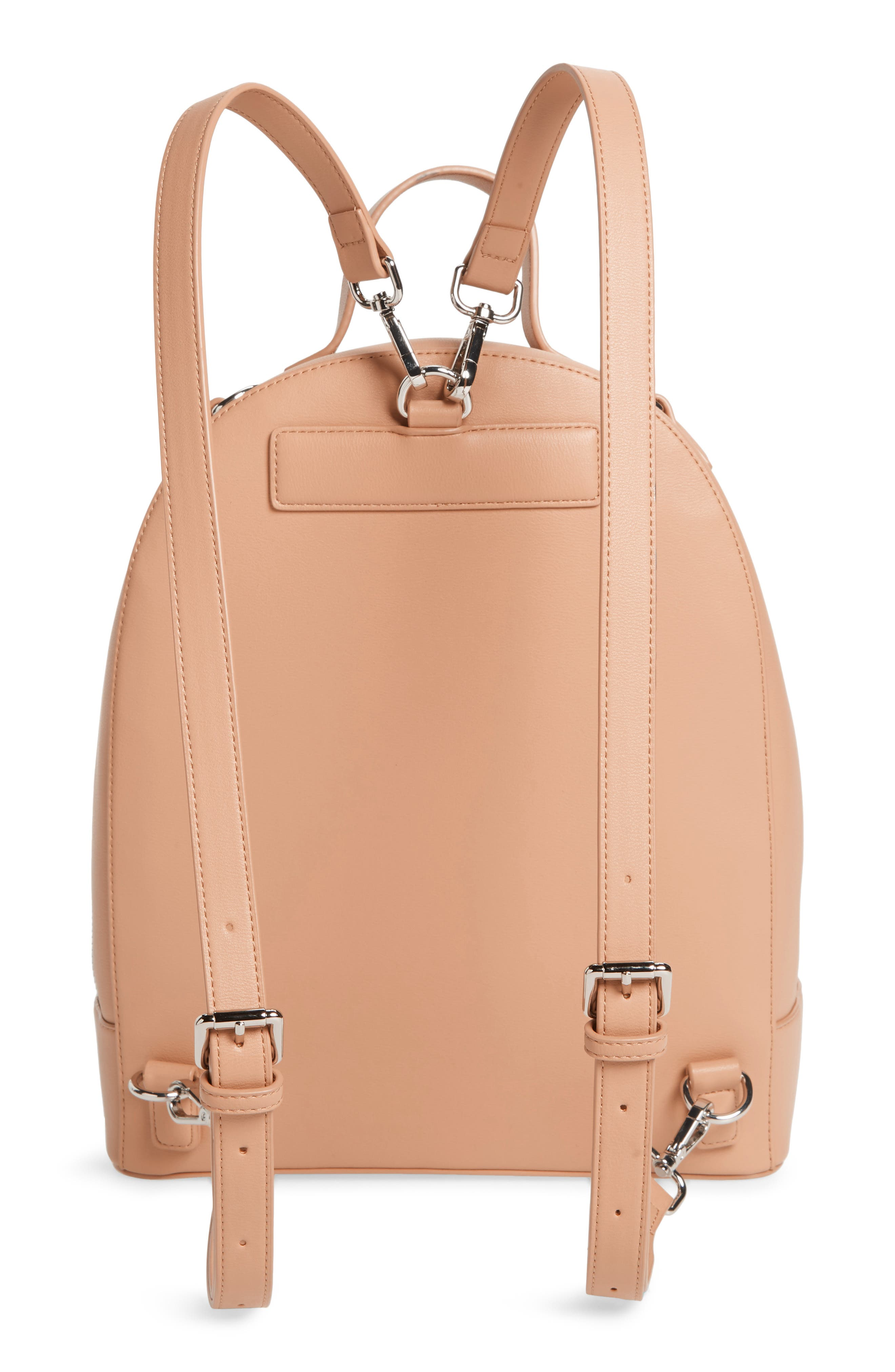 Large Cora Faux Leather Convertible Backpack,                             Alternate thumbnail 4, color,                             250