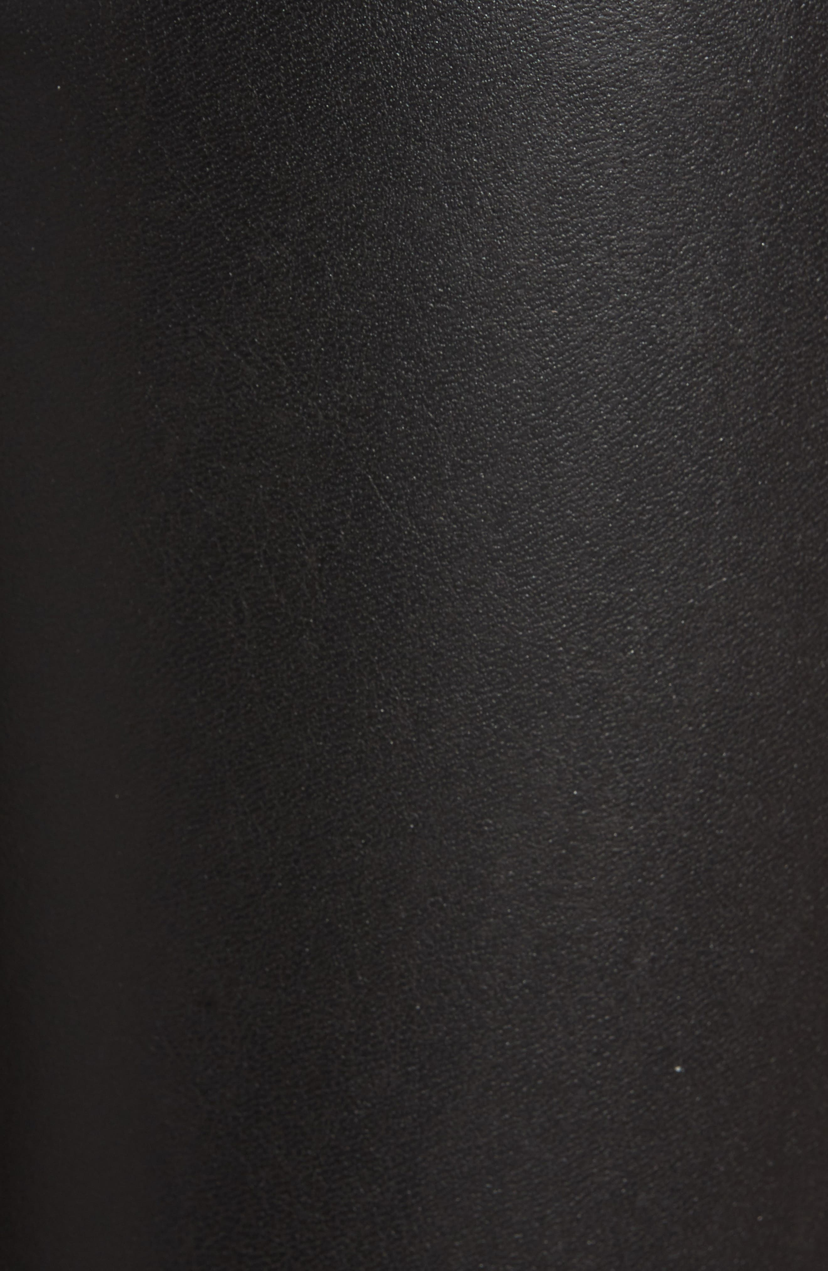 Gemma Faux Leather Skimmer Pants,                             Alternate thumbnail 5, color,                             BLACK