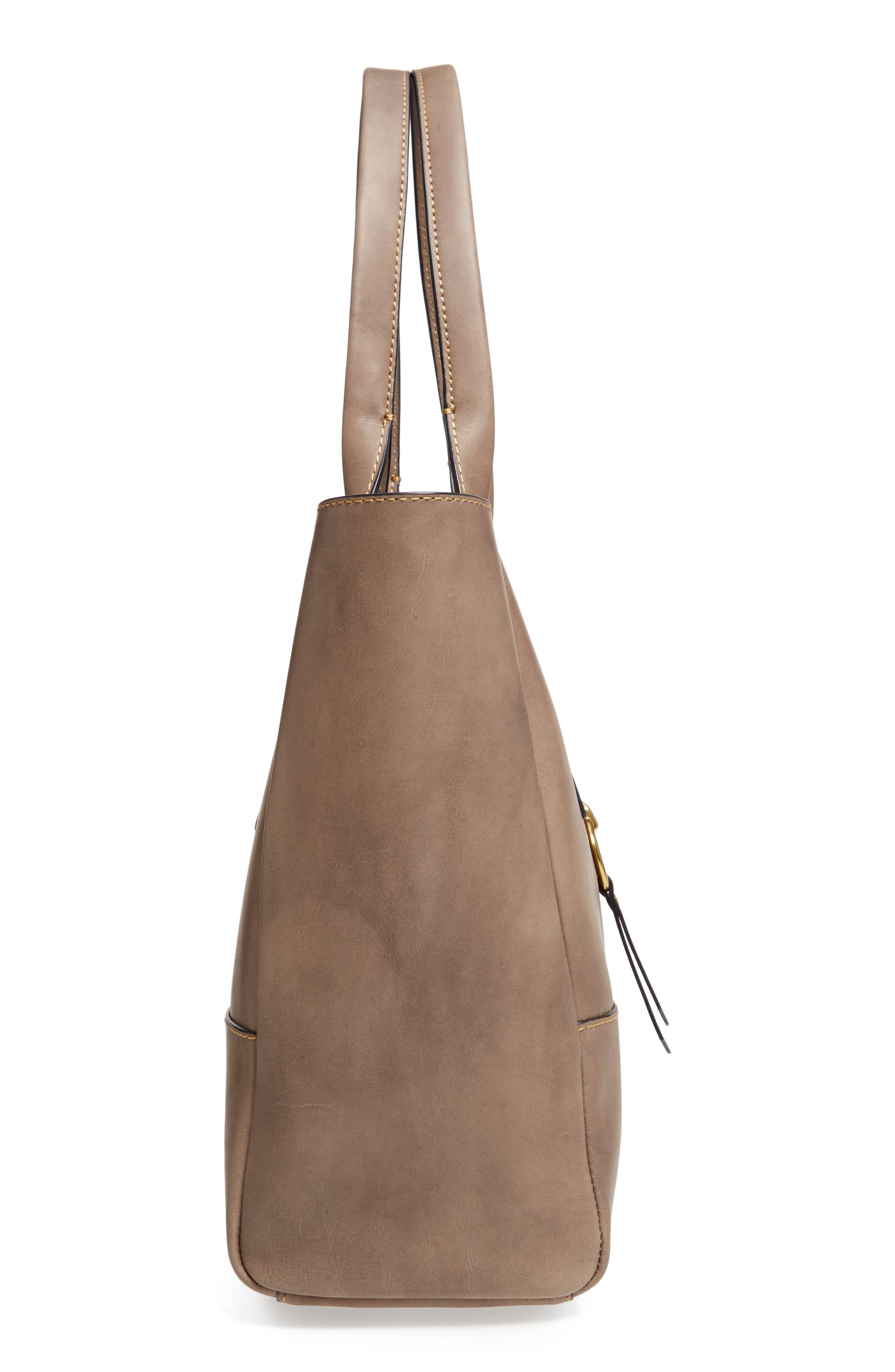 Ilana Harness Leather Shopper,                             Alternate thumbnail 5, color,                             030