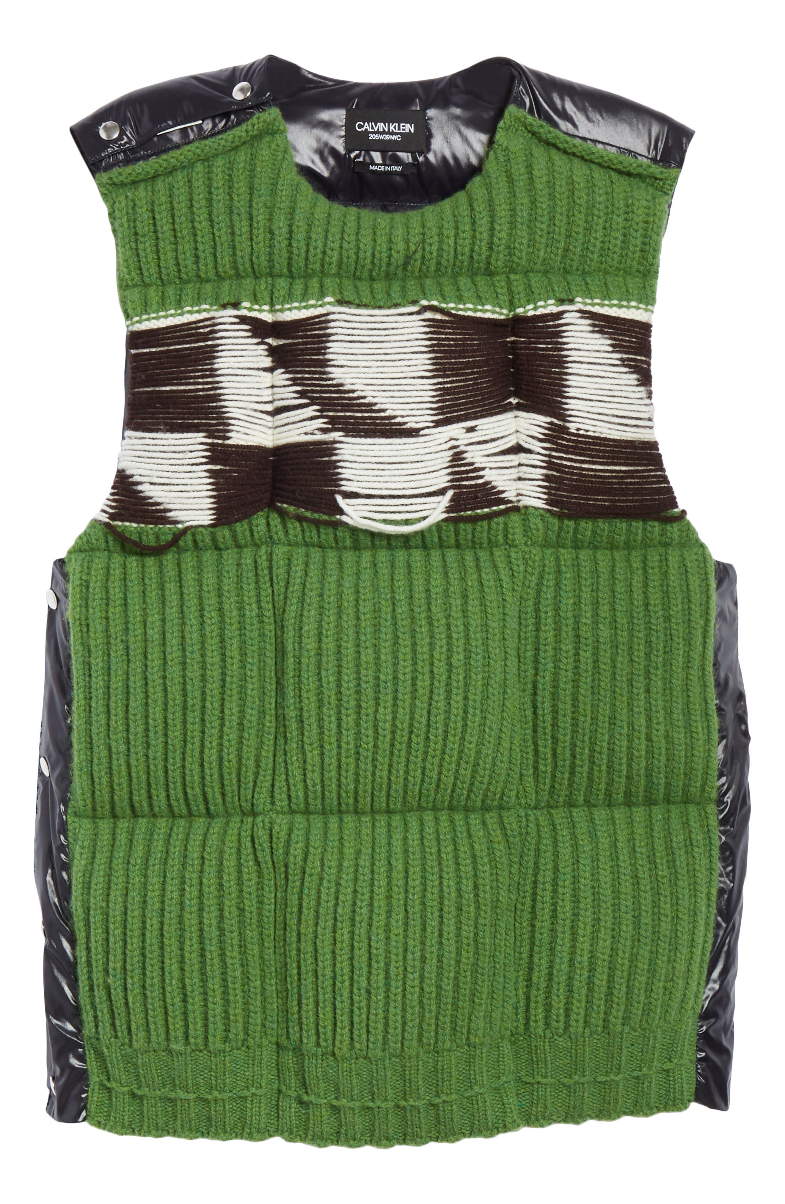 Body Warmer Vest,                             Alternate thumbnail 4, color,                             GREEN FERN