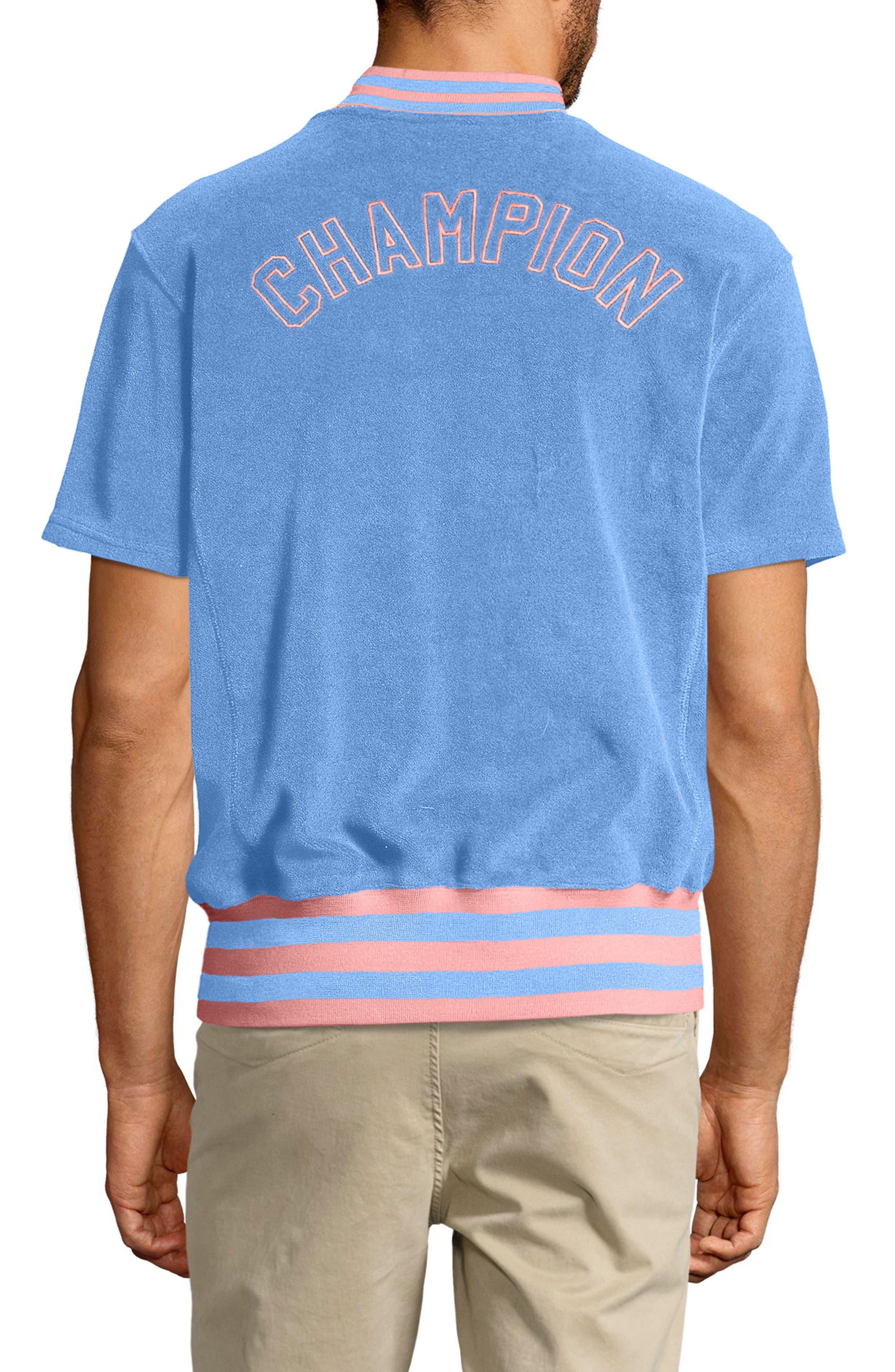 Sponge Terry Stripe Full Zip Sweatshirt,                             Alternate thumbnail 2, color,                             452