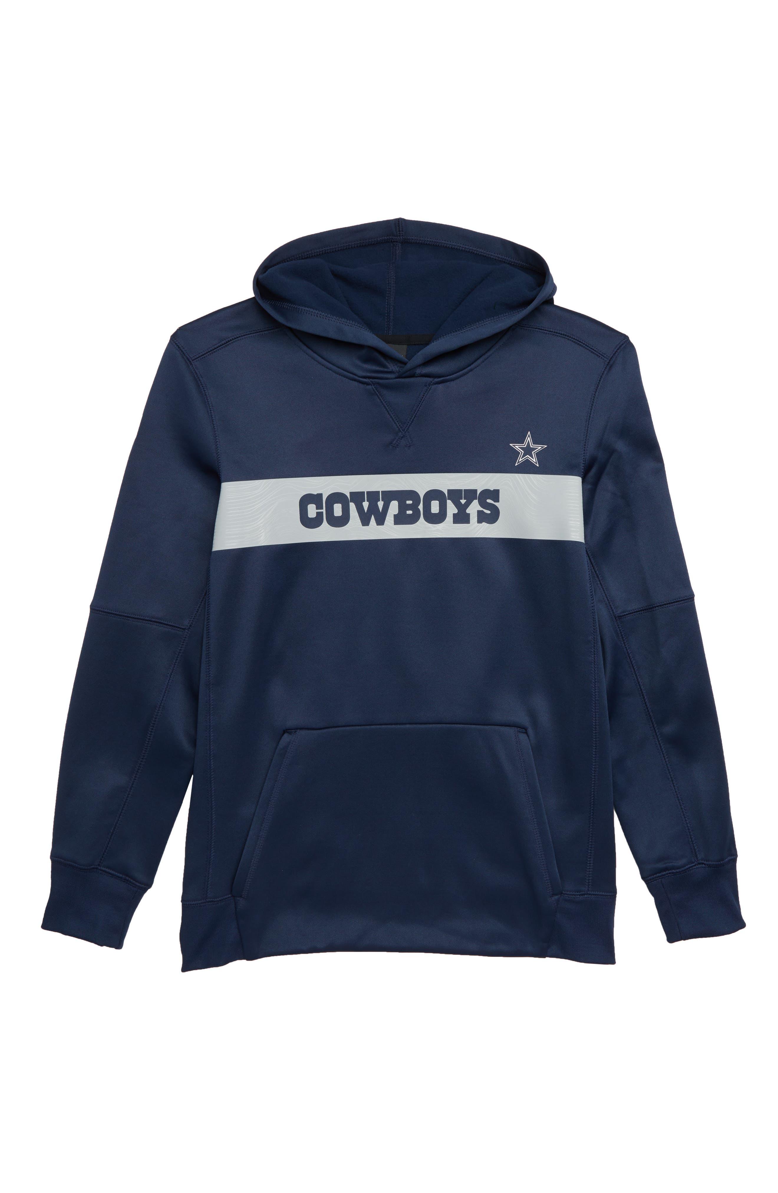 DALLAS COWBOYS,                             Nike NFL Dallas Cowboys Therma Pullover Hoodie,                             Main thumbnail 1, color,                             410