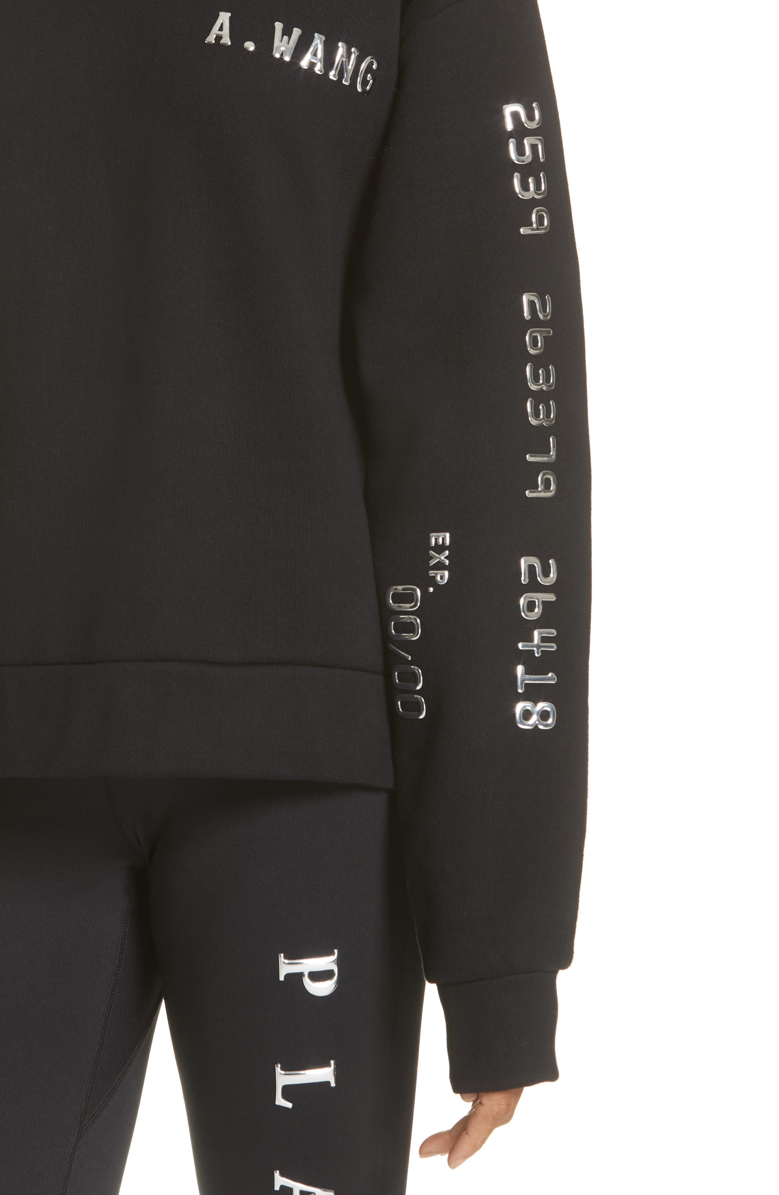 Credit Card Sweatshirt,                             Alternate thumbnail 4, color,                             001