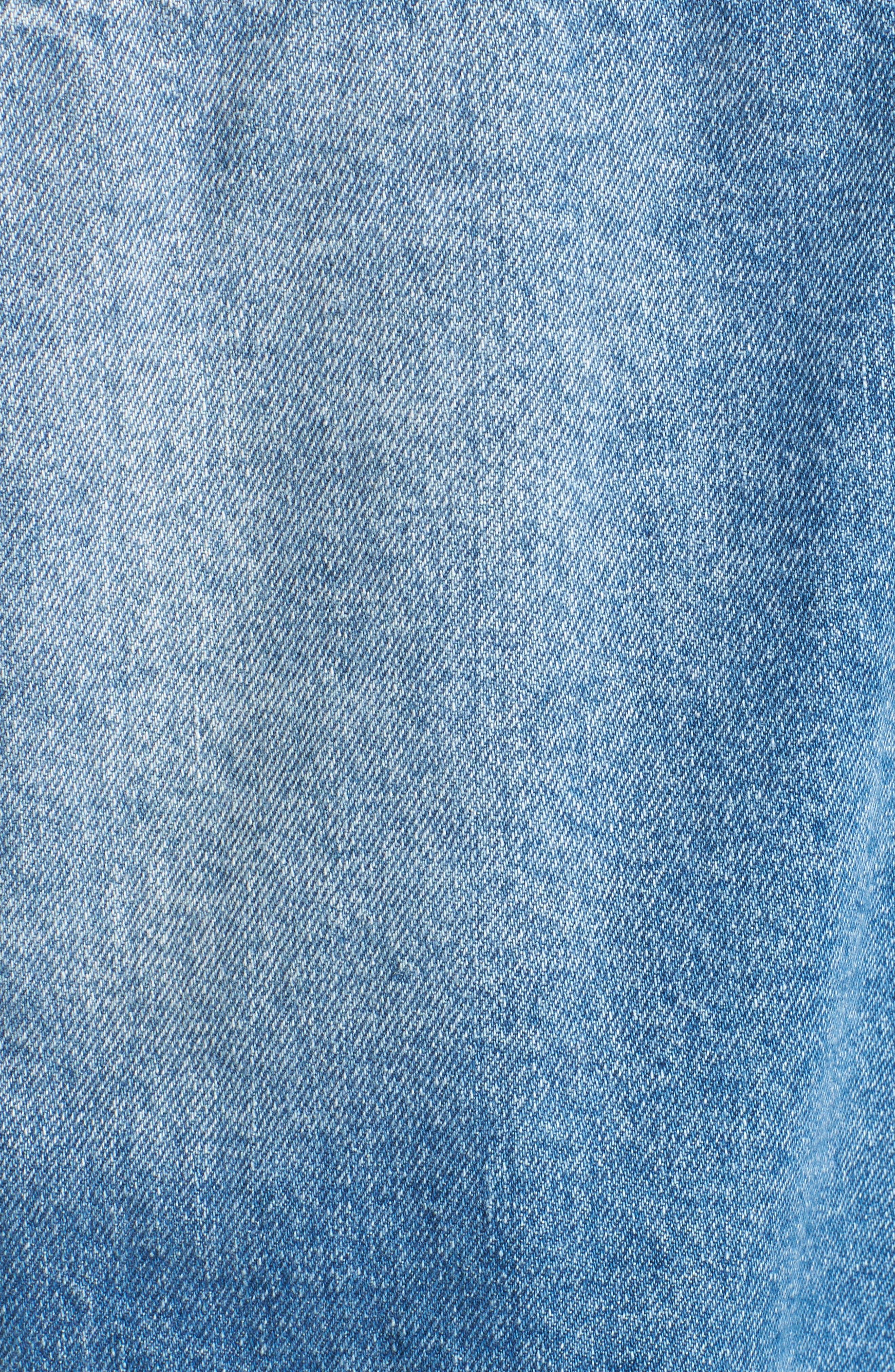 Decon Longline Denim Jacket,                             Alternate thumbnail 6, color,                             450