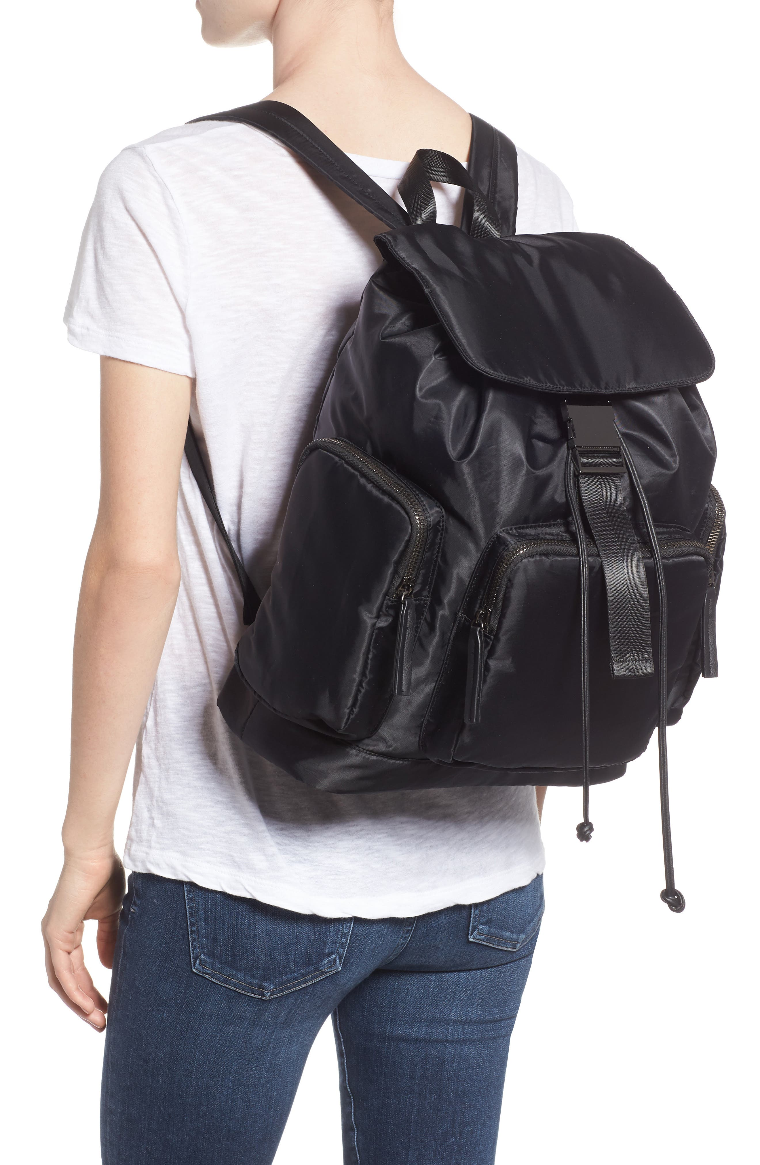 Oversized Utility Backpack,                             Alternate thumbnail 2, color,                             BLACK
